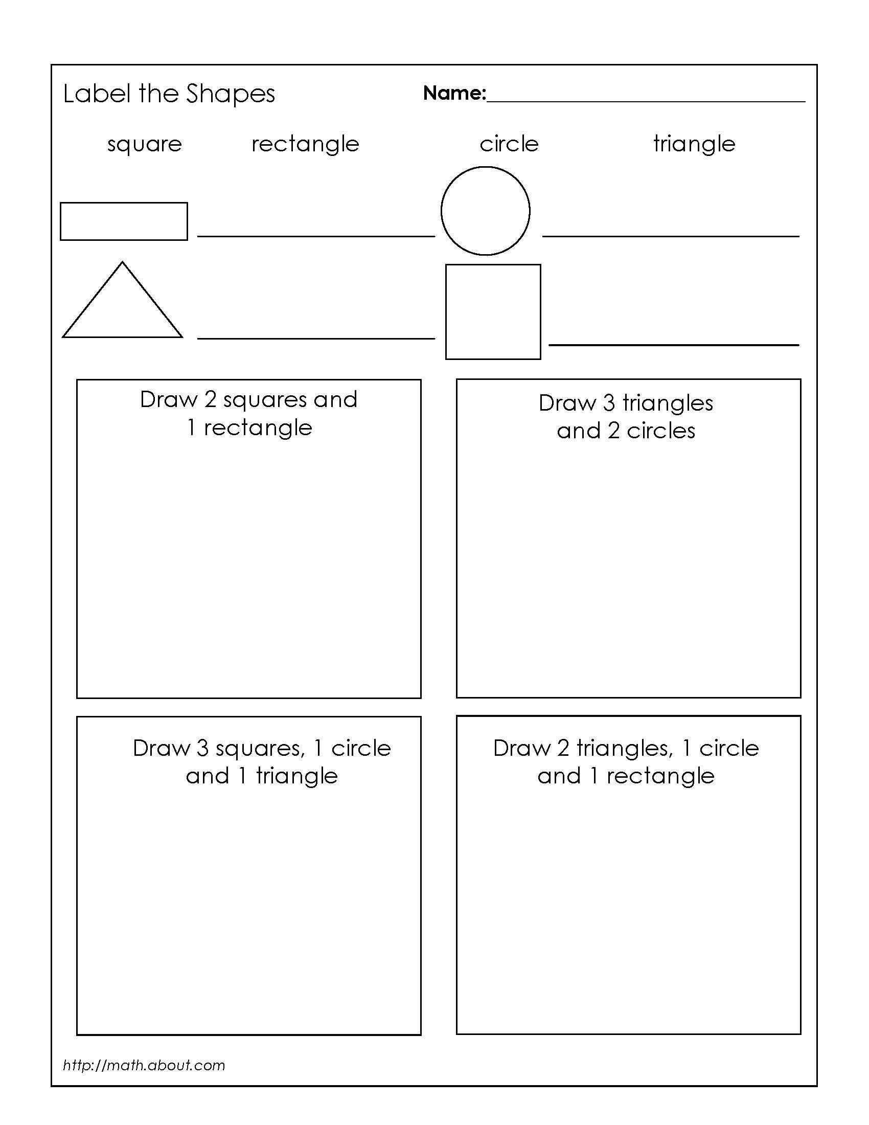 2d Shapes Worksheet Kindergarten 2d Shapes Worksheets for Grade 2