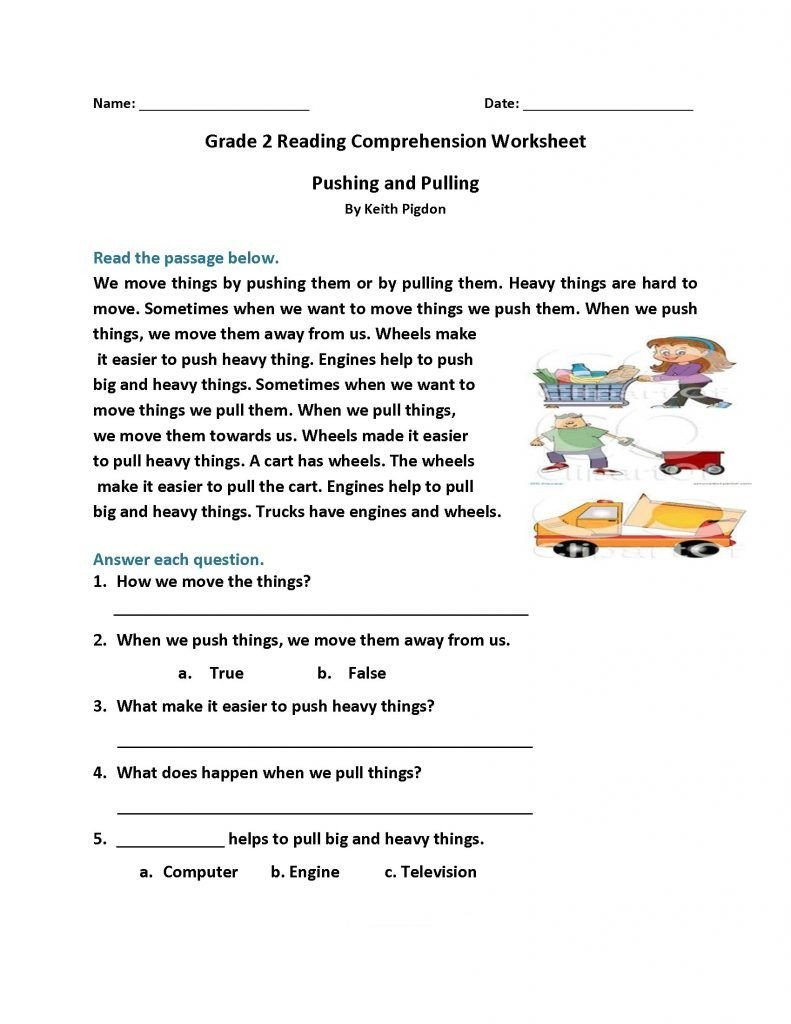 2nd Grade Reading Worksheets Printable 2nd Grade Reading Worksheets Best Coloring Pages for Kids