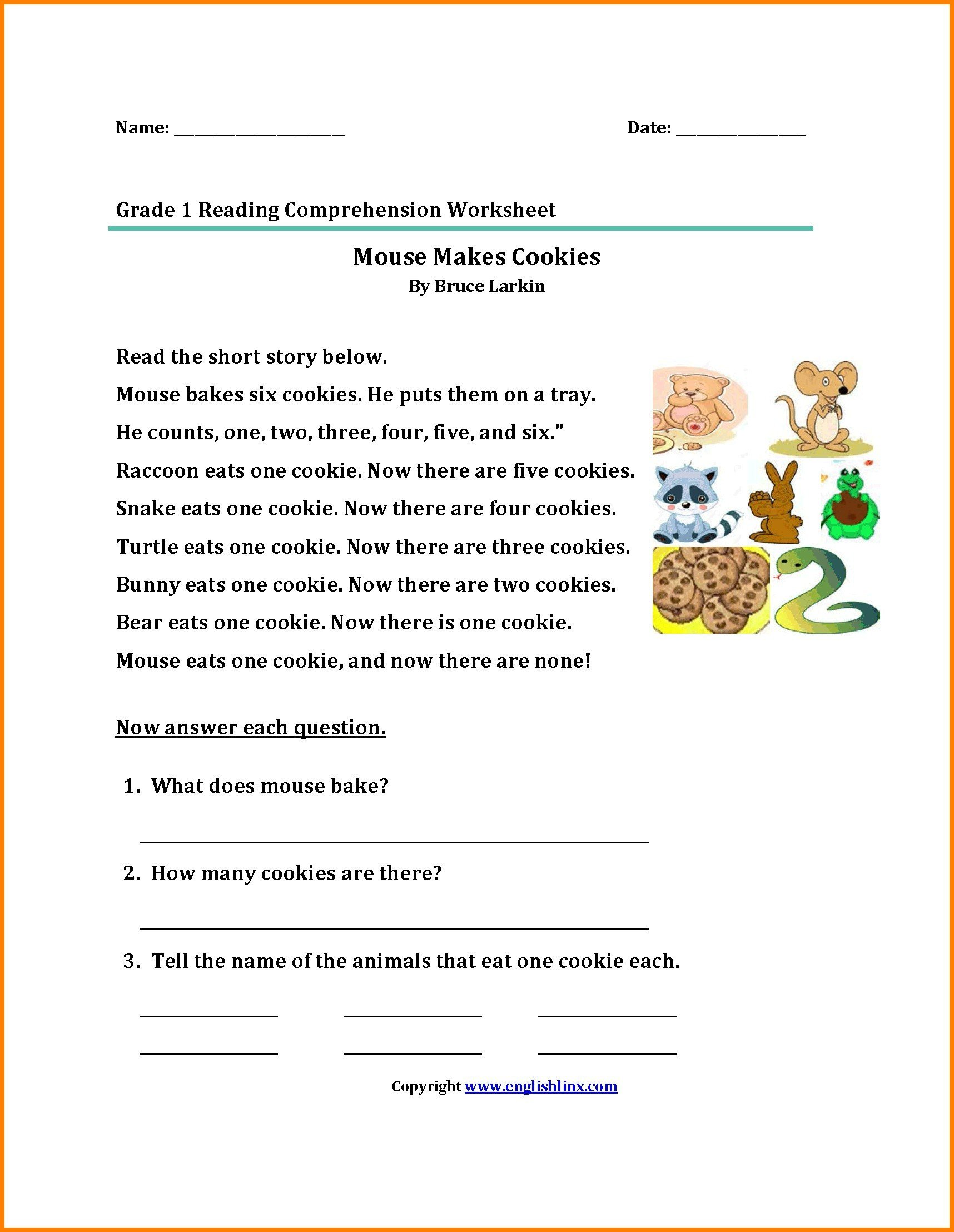 printable 2nd grade reading prehension worksheets awesome first passages about animals new od of dolch words archives share