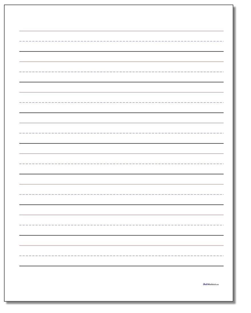 2nd Grade Writing Worksheets Pdf Printable Handwriting Paper