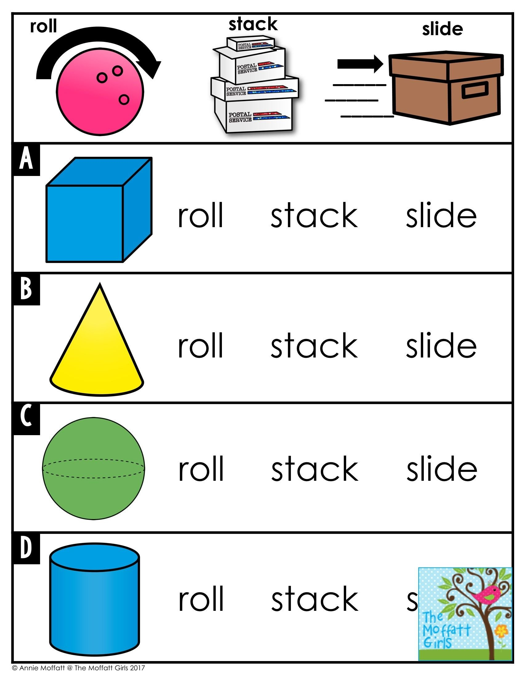 3 Dimensional Shapes Worksheet Kindergarten Math Curriculum Shapes