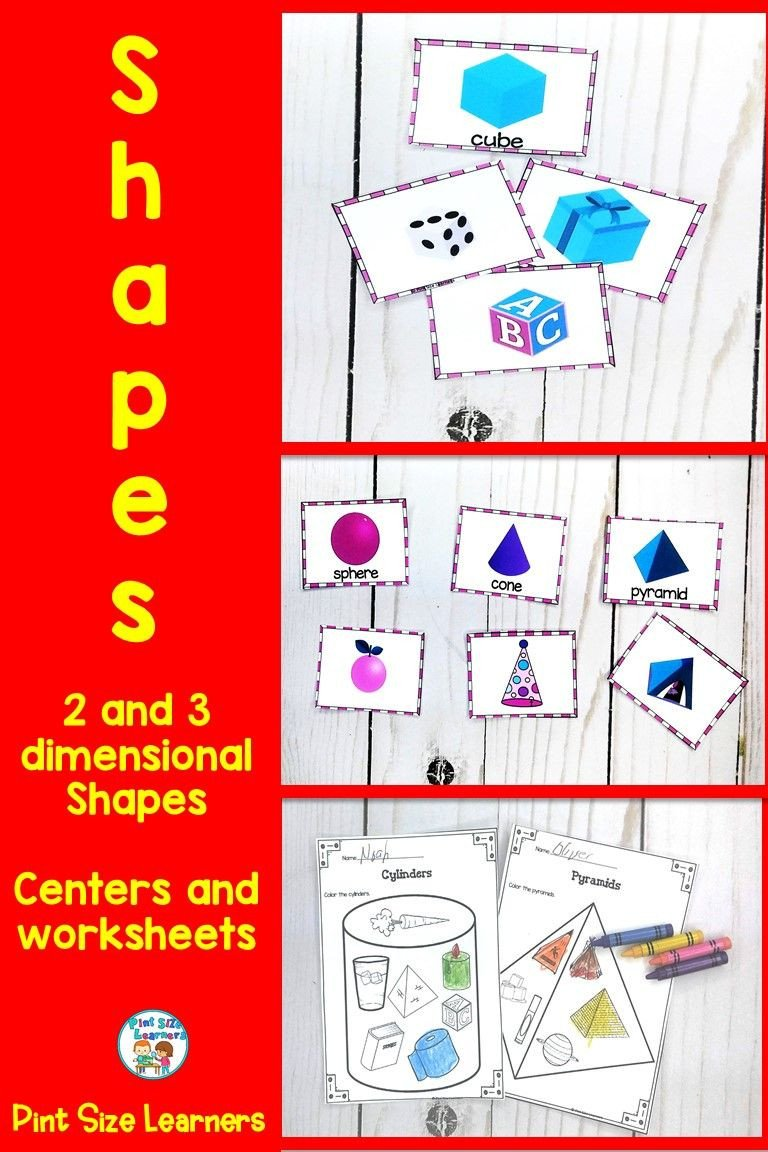 3 Dimensional Shapes Worksheet Your Pre K and Kindergarten Students Will Learn About 2 and