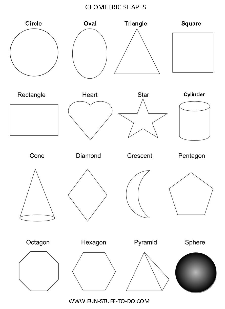 3 Dimensional Shapes Worksheets Geometric Shapes Worksheets