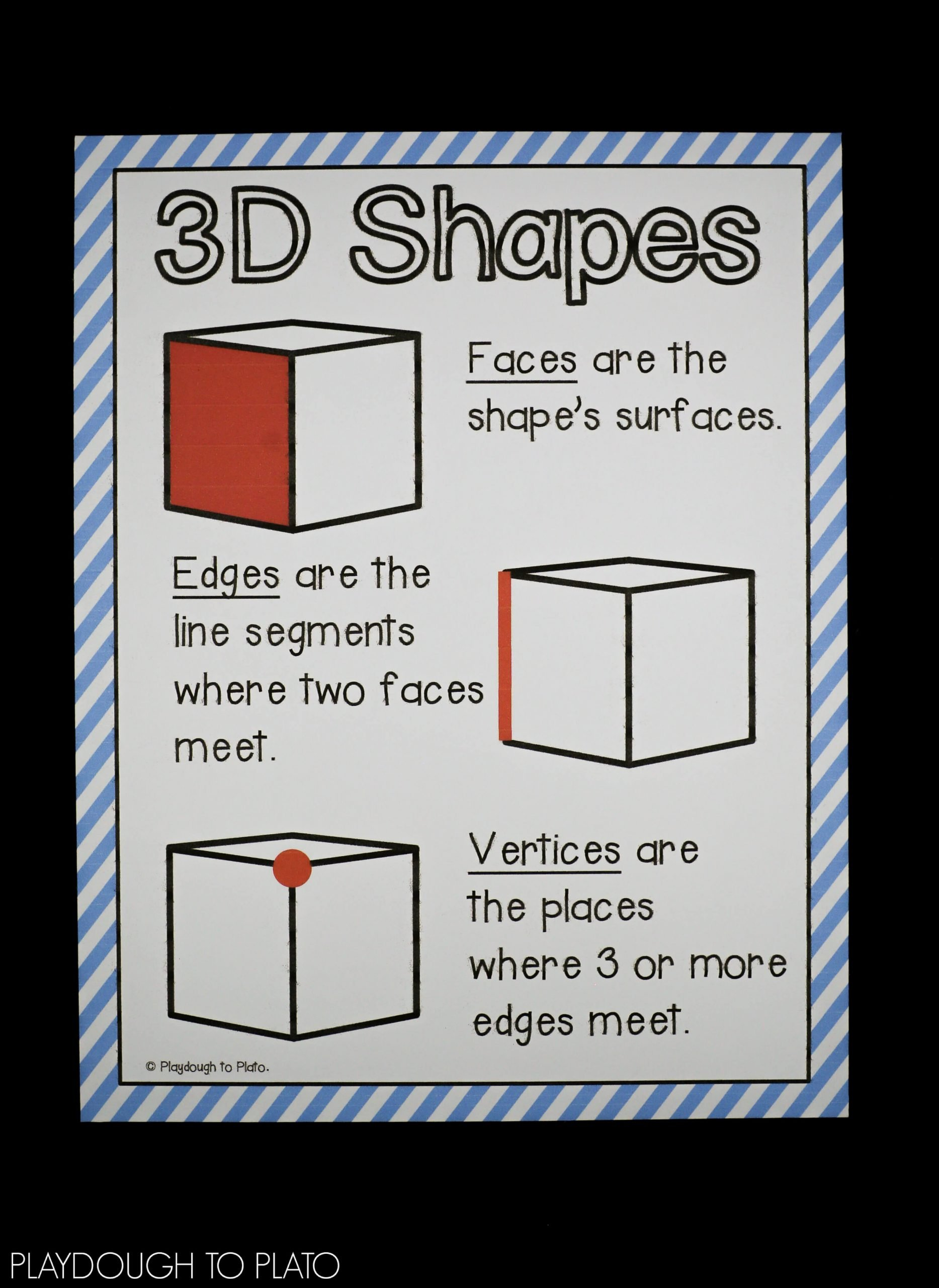3d Shapes Worksheet for Kindergarten 3d Shape Activities Playdough to Plato