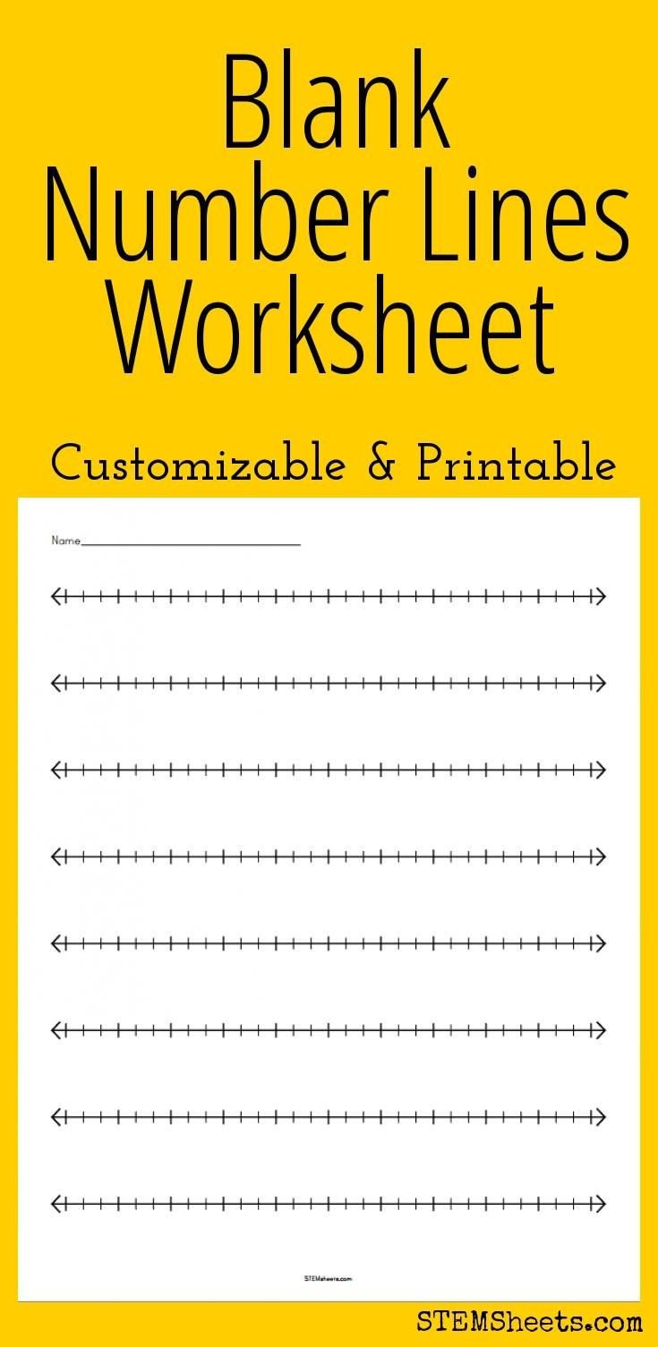 3rd Grade Number Line Worksheets Blank Number Lines Worksheet