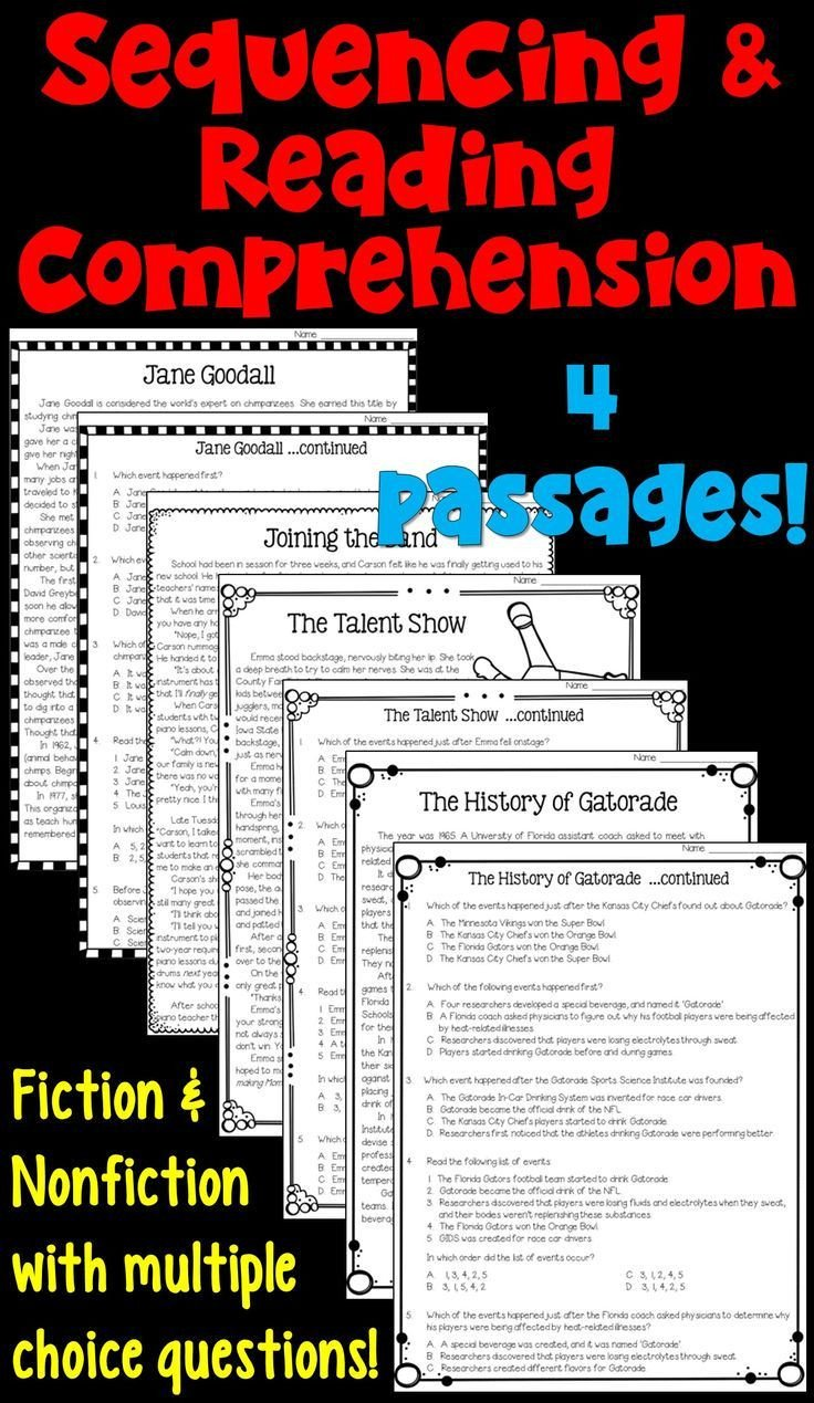 4th Grade Inferencing Worksheets Sequencing Worksheets with Reading Prehension Passages