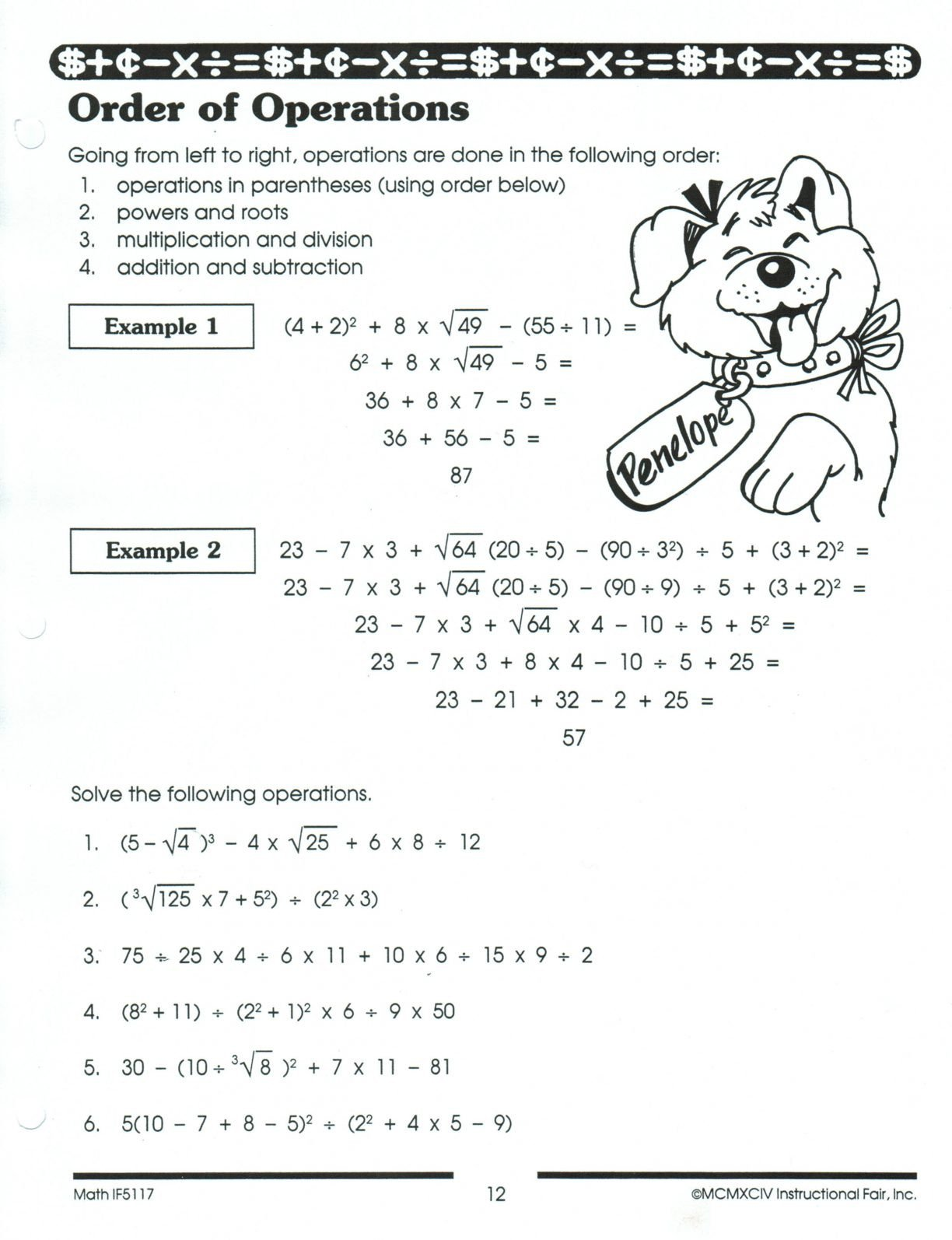 pemdas worksheets 5th grade 2