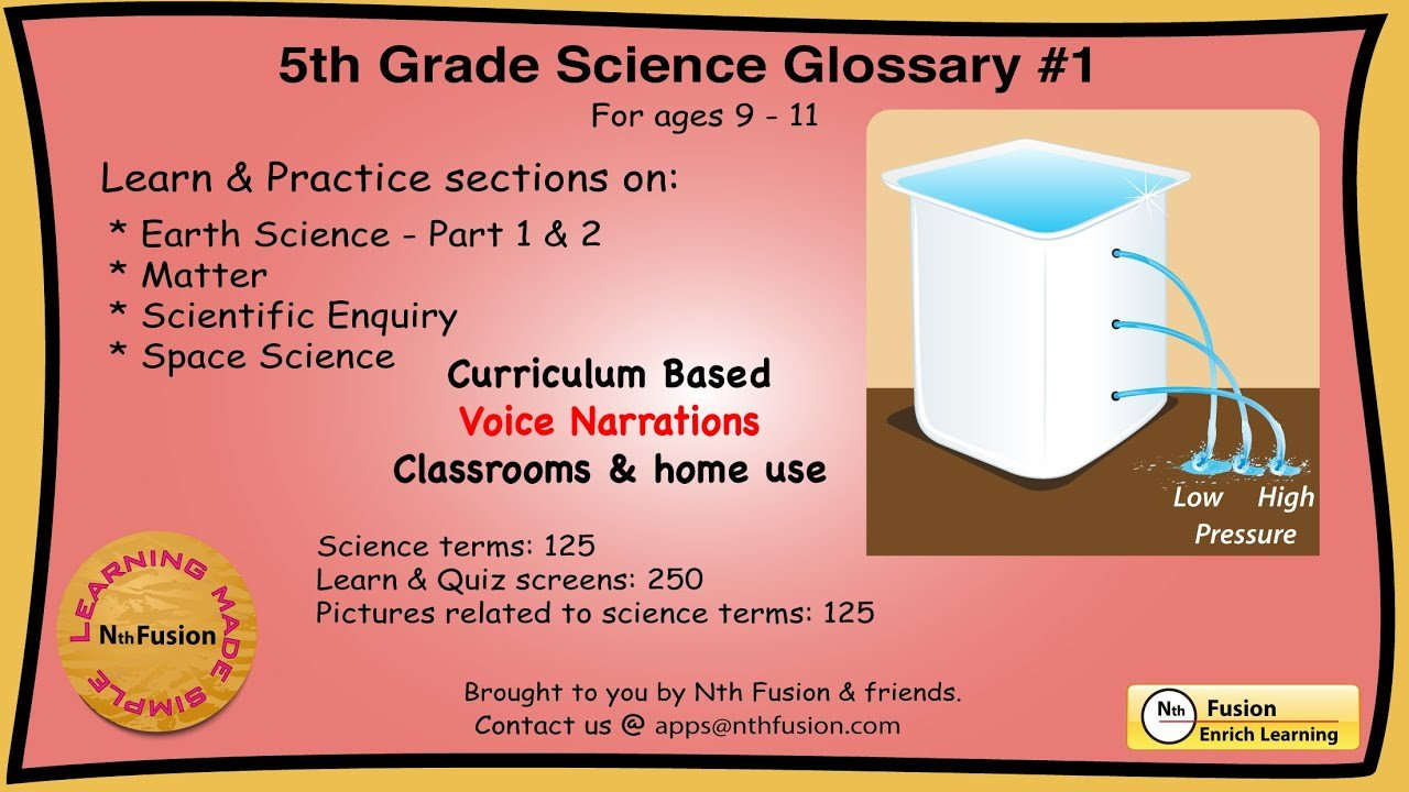 5th Grade Science Practice Worksheets 5th Grade Science Glossary 1 Learn and Practice Worksheets for Home and Classroom