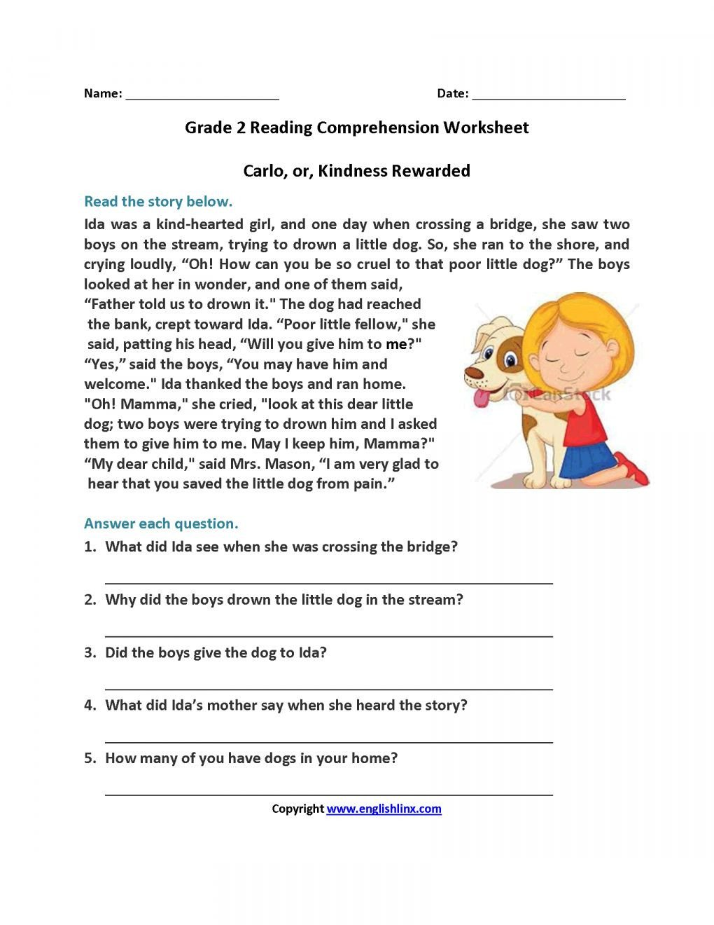 5th Grade Worksheets Printable Reading 12 Free Printable Worksheets Reading Prehension 5th Grade