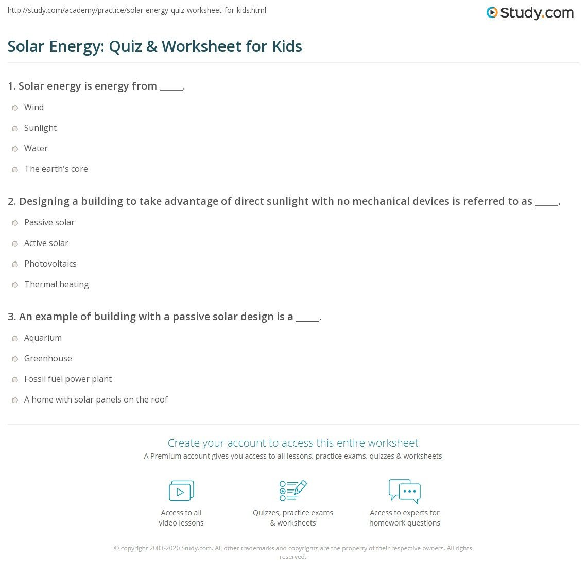 6th Grade Science Energy Worksheets solar System Questions for 6th Grade with Answers