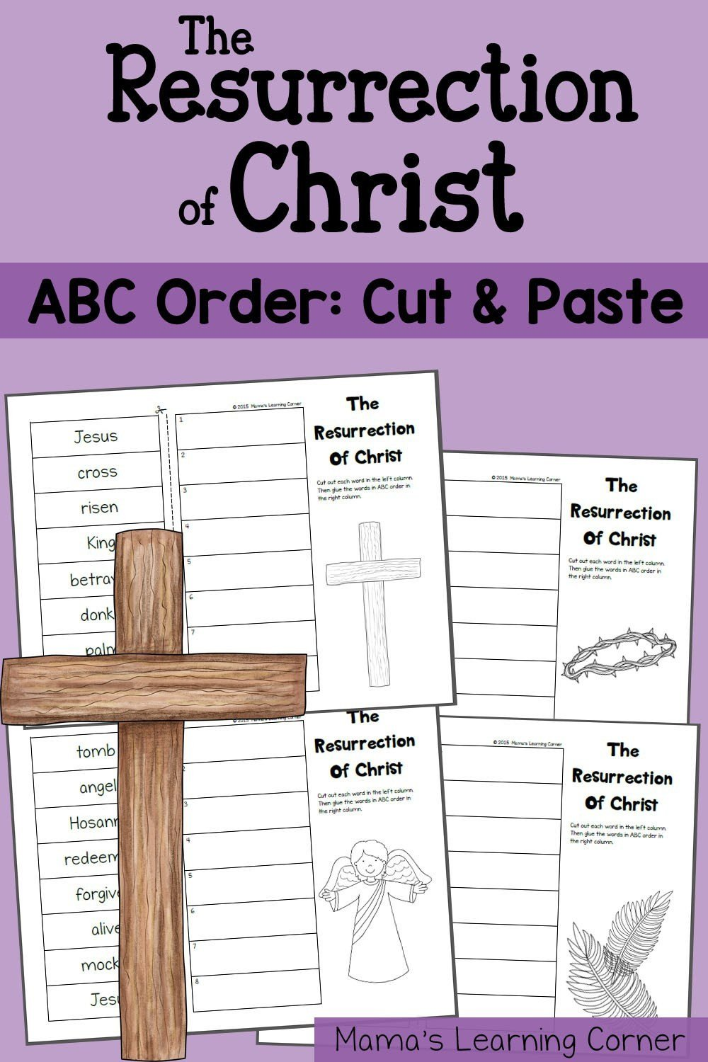 Abc order Worksheets Kindergarten Abc order Worksheet the Resurrection Of Christ Mamas