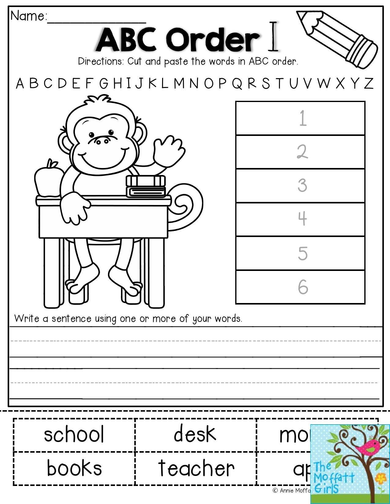 Abc order Worksheets Kindergarten Pin On Phonics