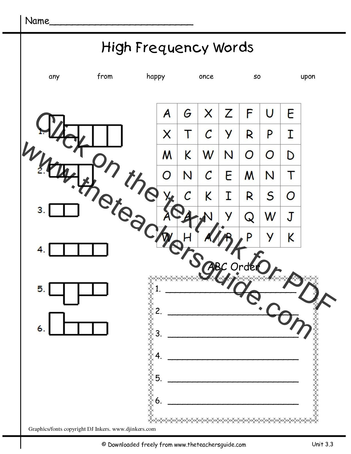 Abc order Worksheets Kindergarten Sight Word Worksheet New 348 Sight Word Abc order Worksheets