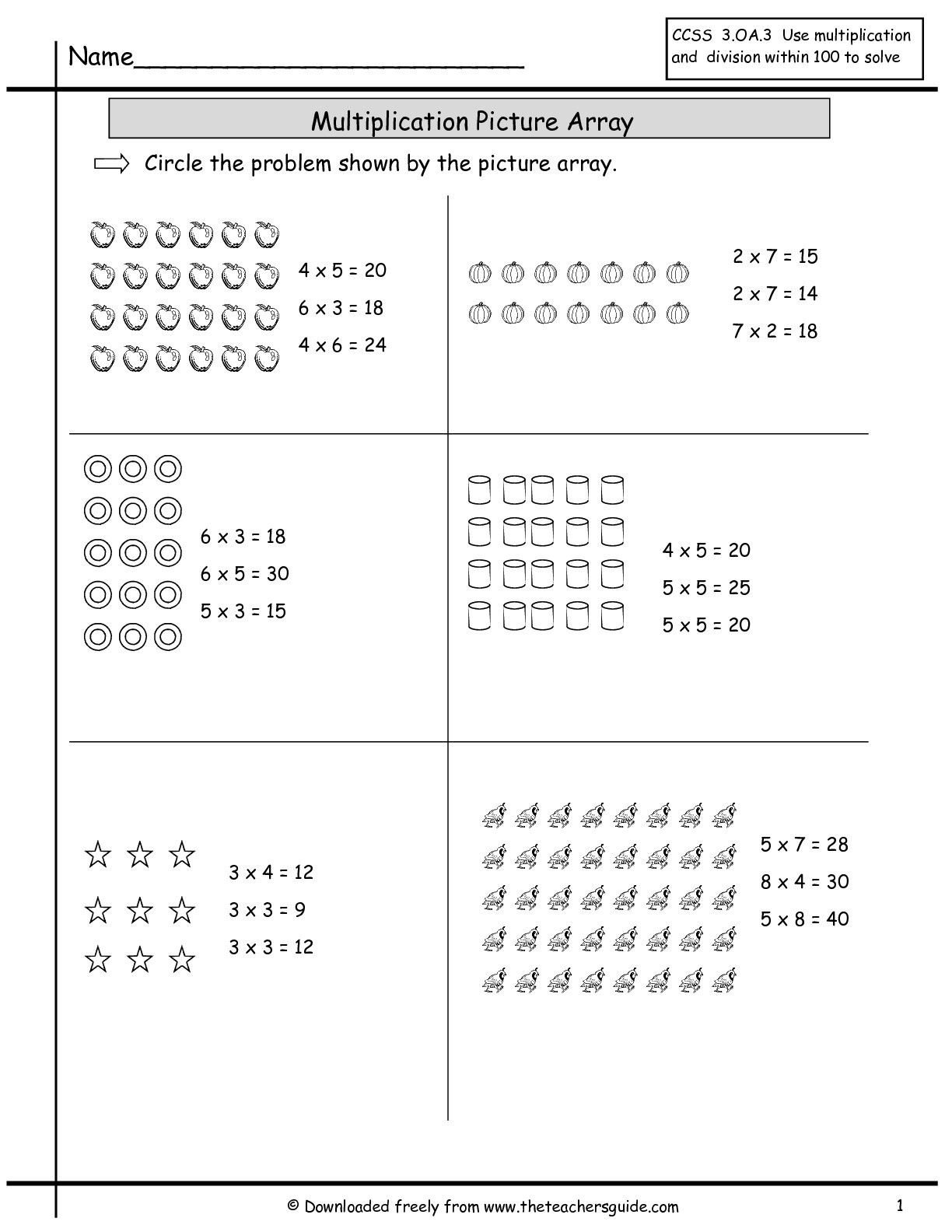Abeka 3rd Grade Math Worksheets Multiplication Array Worksheets From the Teacher S Guide