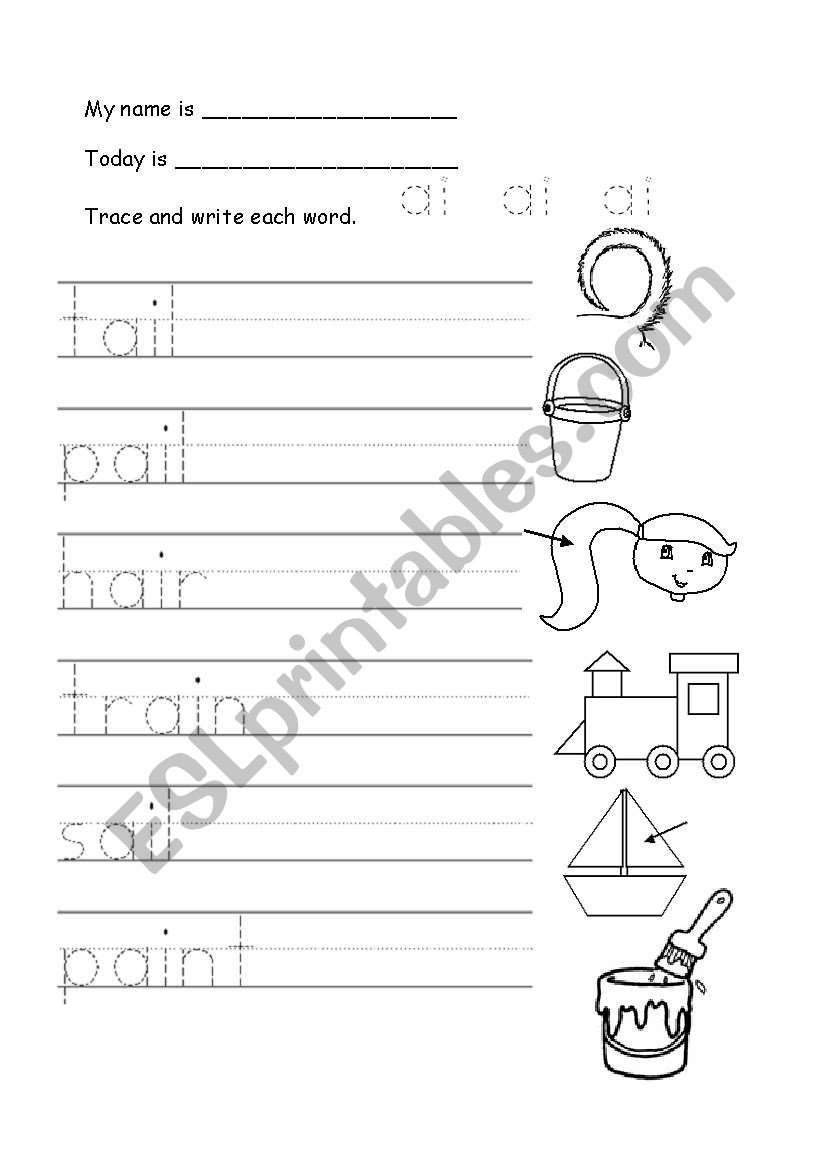 Ai Phonics Worksheet English Worksheets ´ai´ Phonics