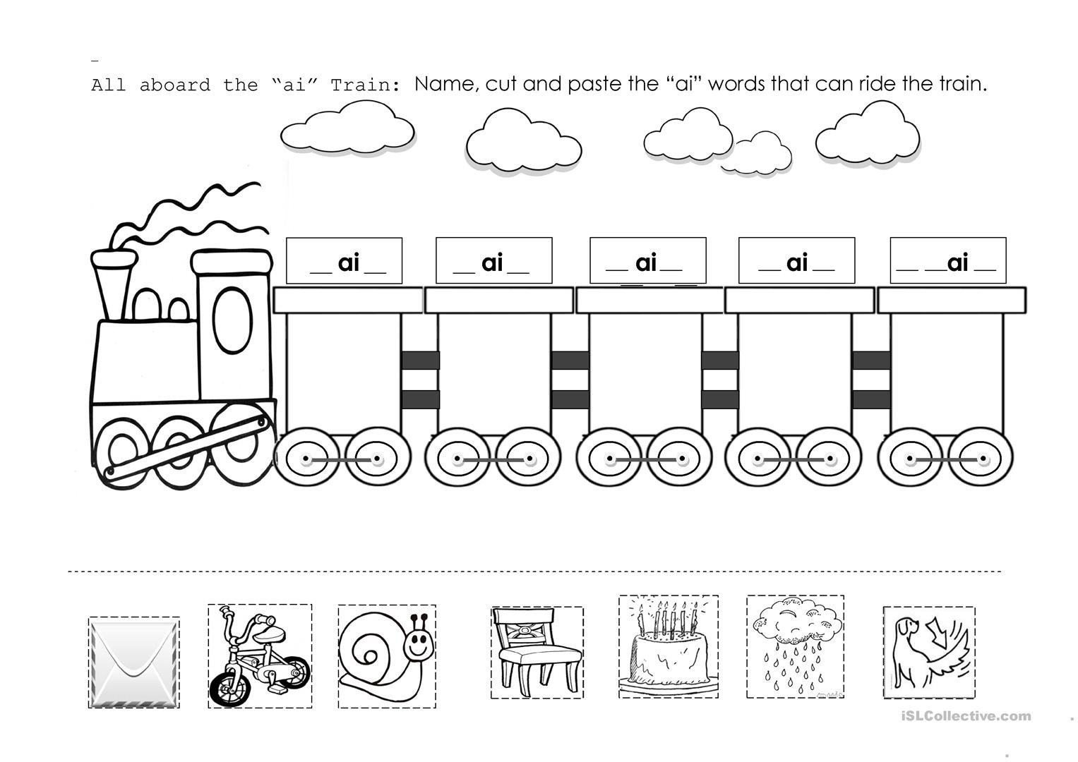 "Ai Words Worksheets Ai"" Train English Esl Worksheets for Distance Learning and"