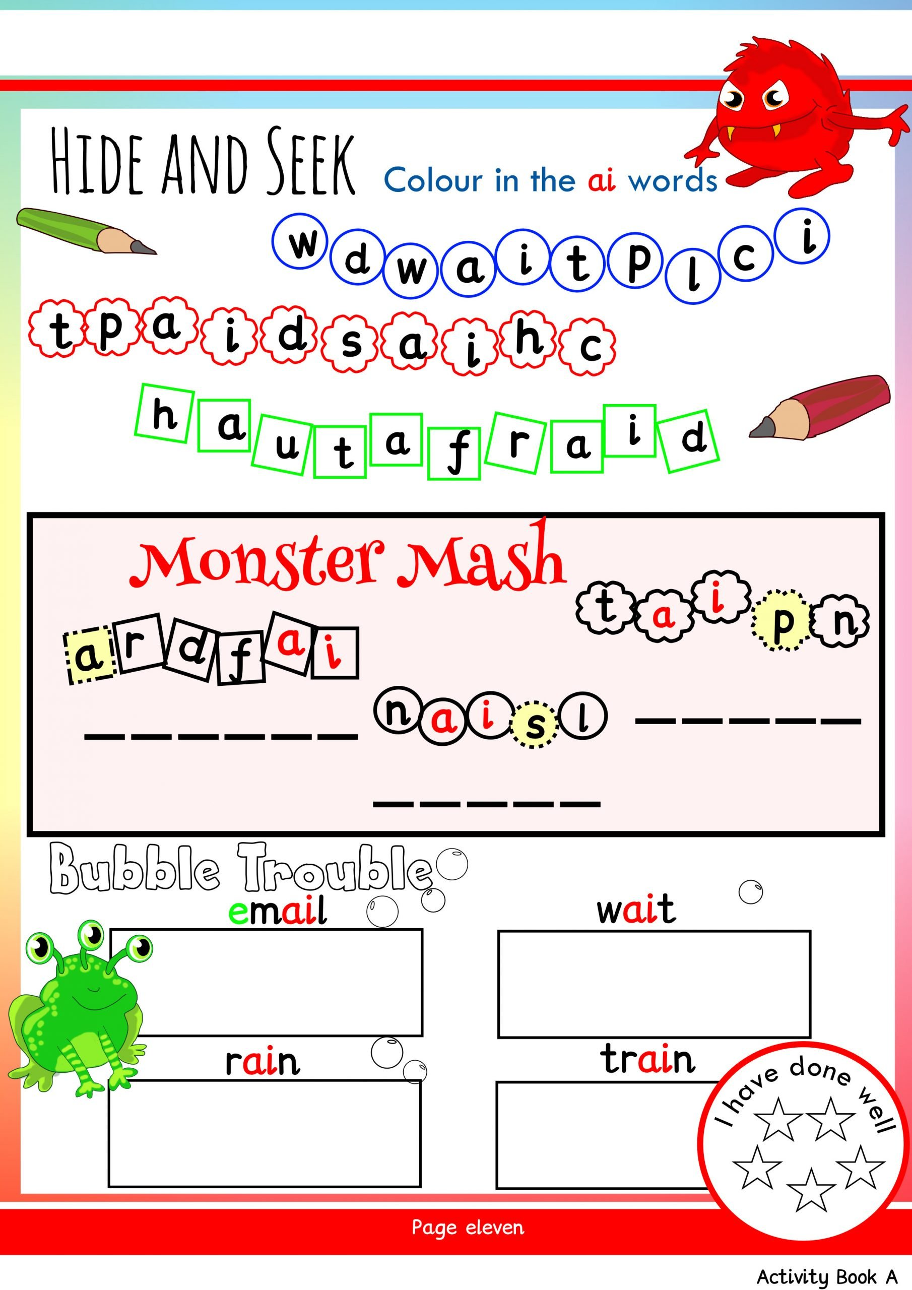 Ai Words Worksheets Free Phonics Worksheets & Activities