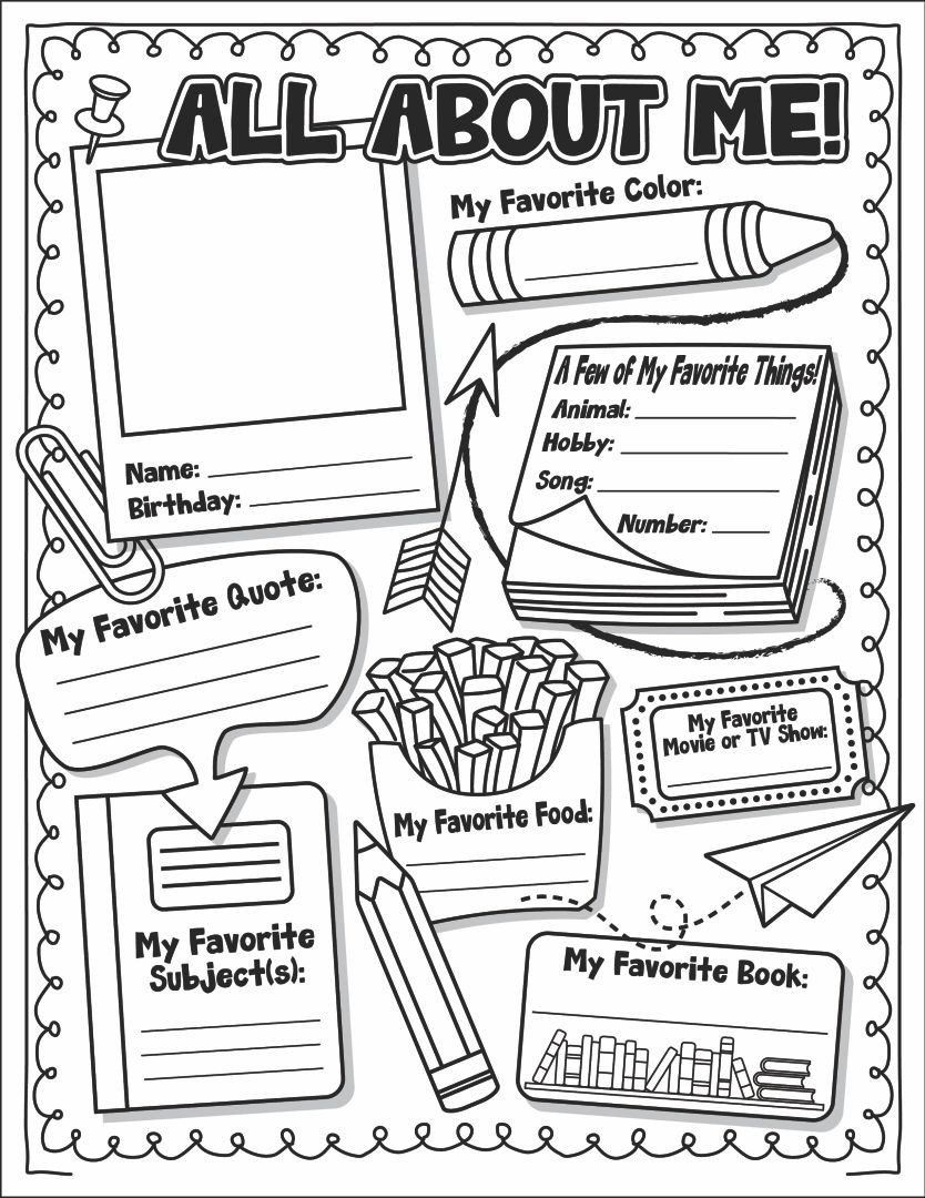 All About Me Kindergarten Worksheet 6 Best Of All About Me Printable Template All About
