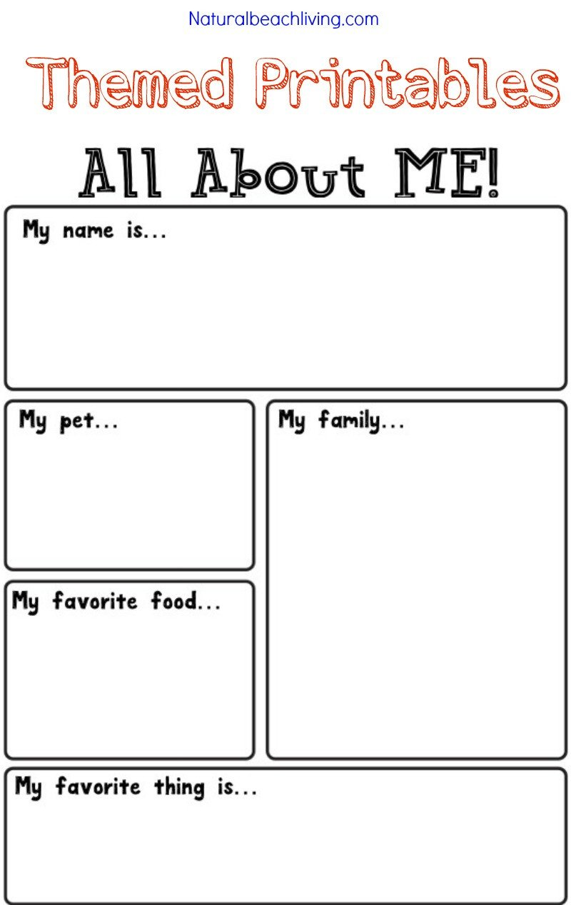 All About Me Kindergarten Worksheet All About Me Activity theme for Preschool & Kindergarten