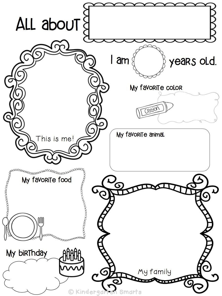 All About Me Kindergarten Worksheet Kindergarten assessment & Activities Freebie Included