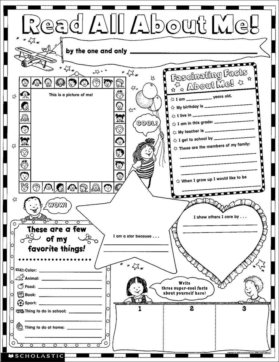 All About Me Kindergarten Worksheet Read All About Me 30 Big Write and Read Learning Posters