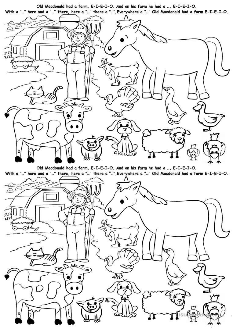 Animal Habitat Worksheets for Kindergarten Farm Animals Free Printable Worksheets