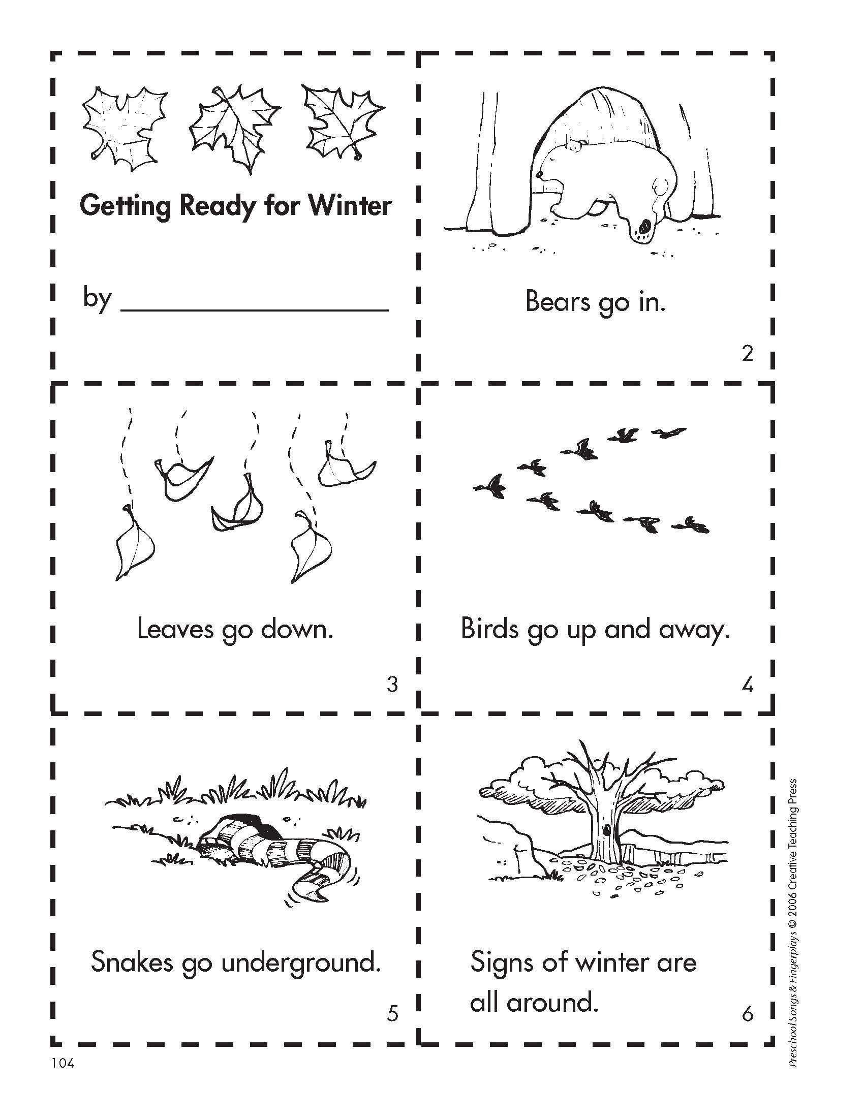 Animal Habitat Worksheets for Kindergarten Get Ready for Winter with This Free Minibook Reproducible