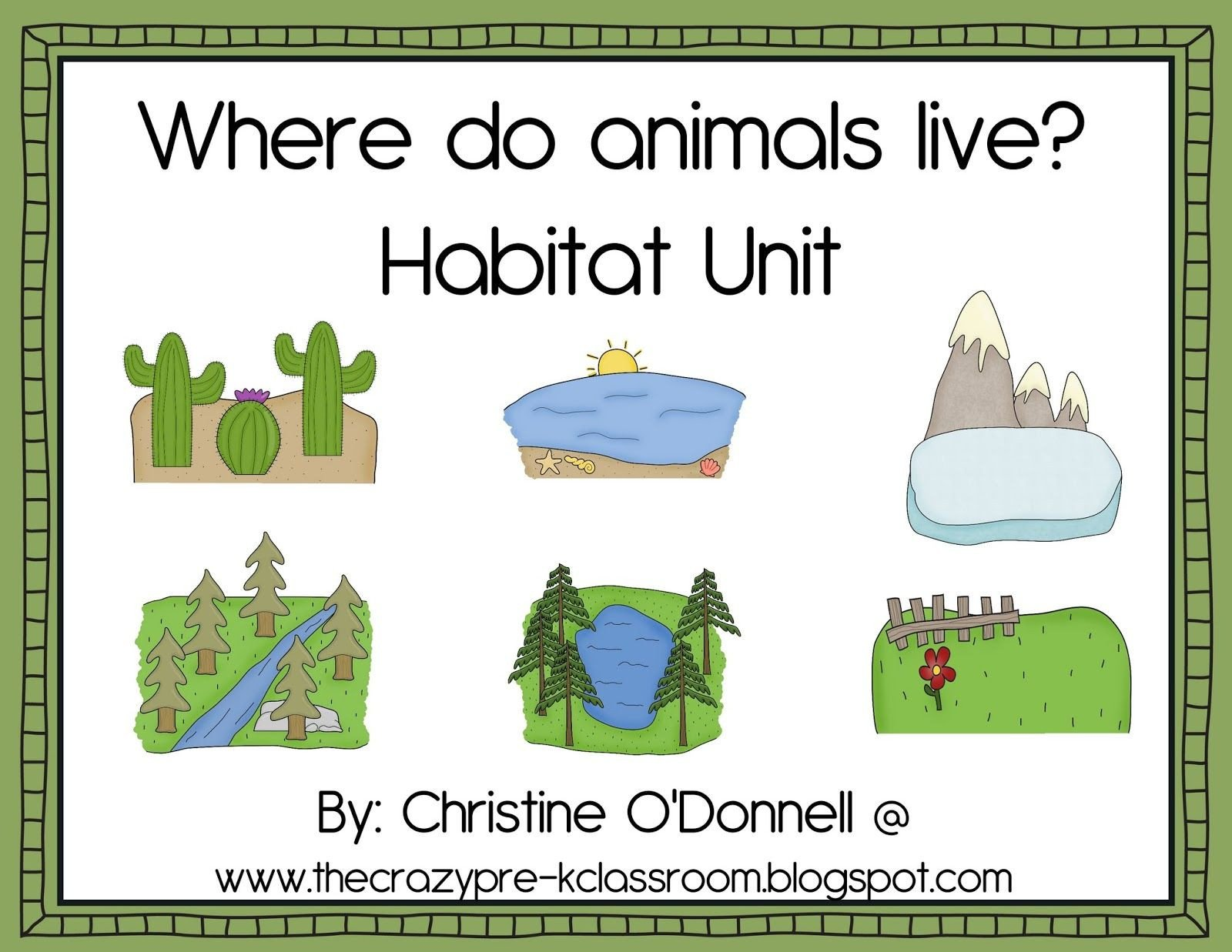 Animal Habitats Worksheets for Kindergarten Animal Habitats Printables