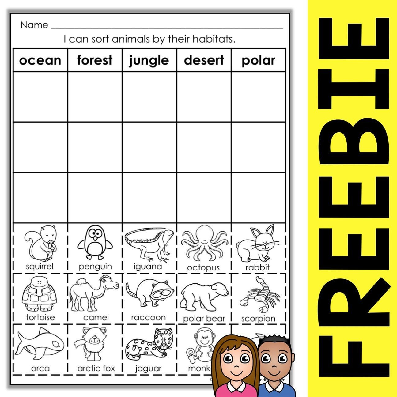 Animal Habitats Worksheets for Kindergarten Free Animal Habitat sort Activity – Nicole and Eliceo