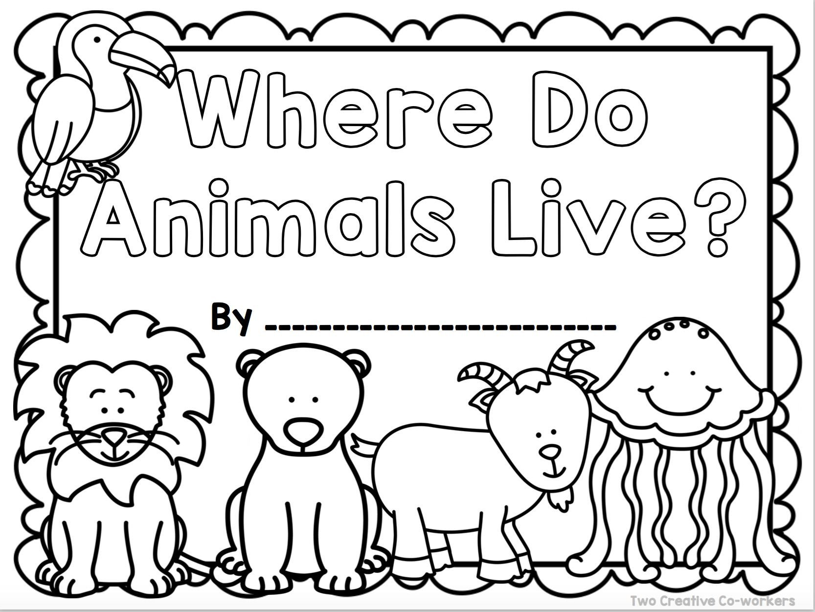 Animal Habitats Worksheets for Kindergarten This Cover is Part Of A Book Included In Our Animal Habitats