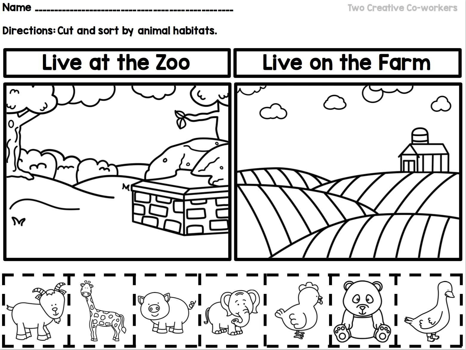 Animal Habitats Worksheets for Kindergarten This sorting Worksheet is A Great Way to Teach Your