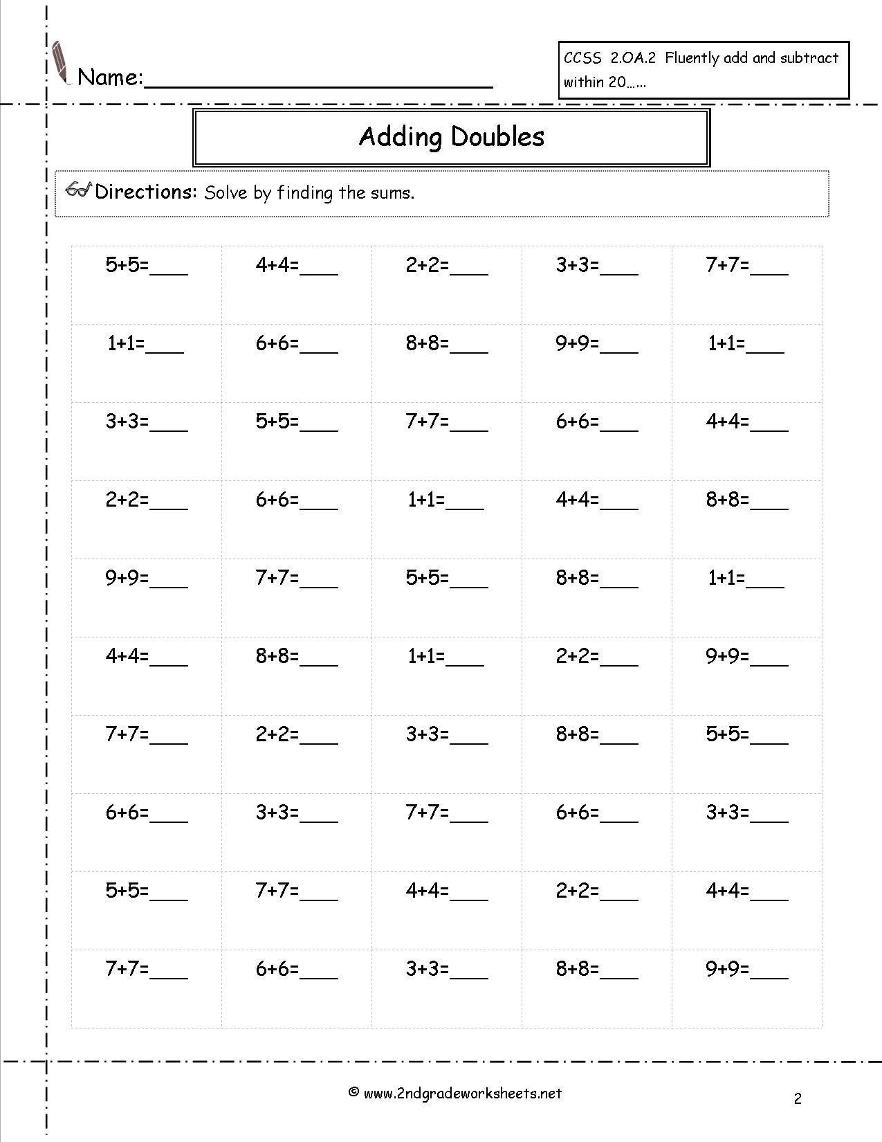 Arrays Worksheets Grade 2 Math Worksheet Free Math Worksheets and Printouts 3rd