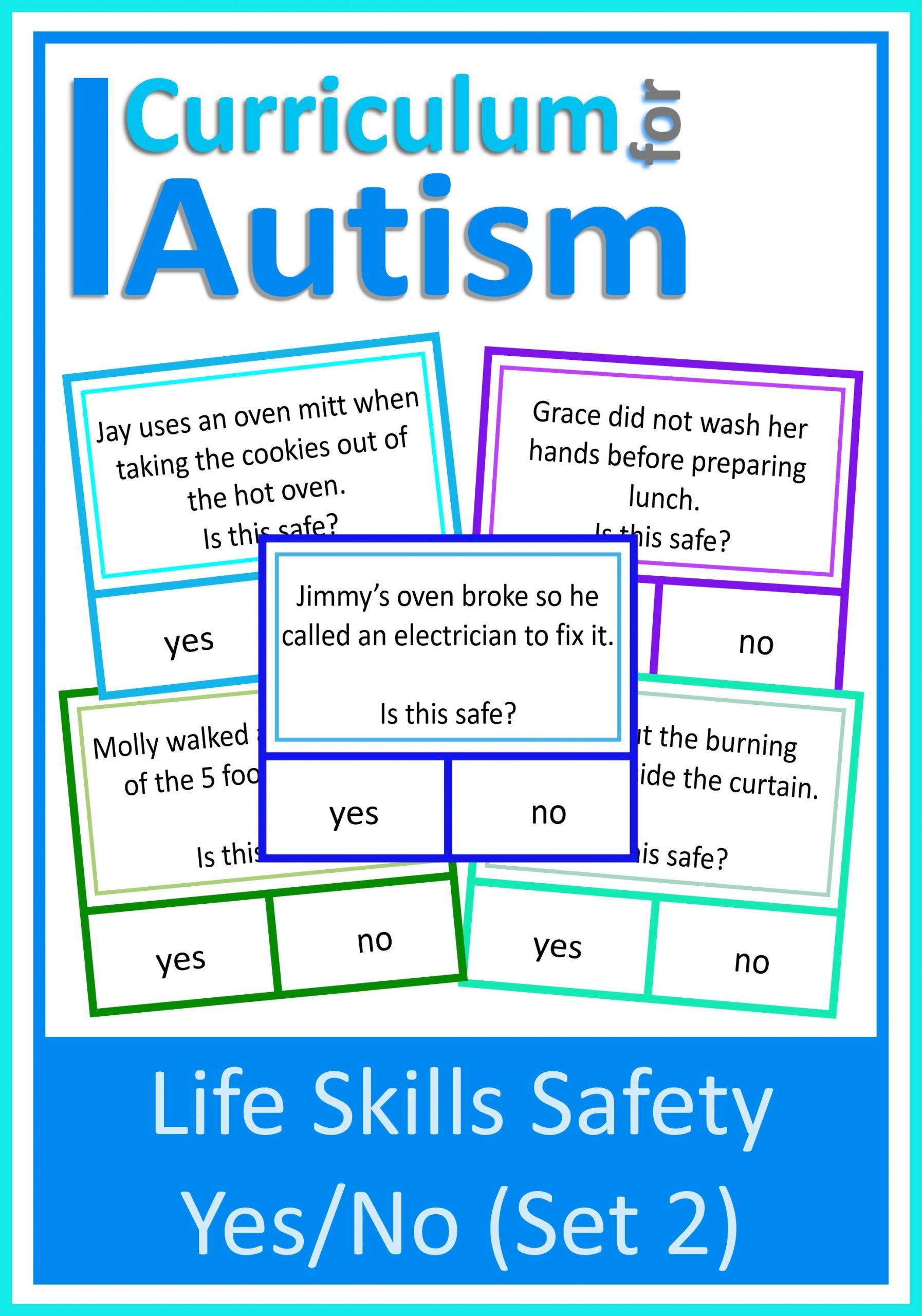 Autism Life Skills Worksheets is This Safe Yes No Safety Scenarios Set 2 Autism Life Skills — Curriculum for Autism