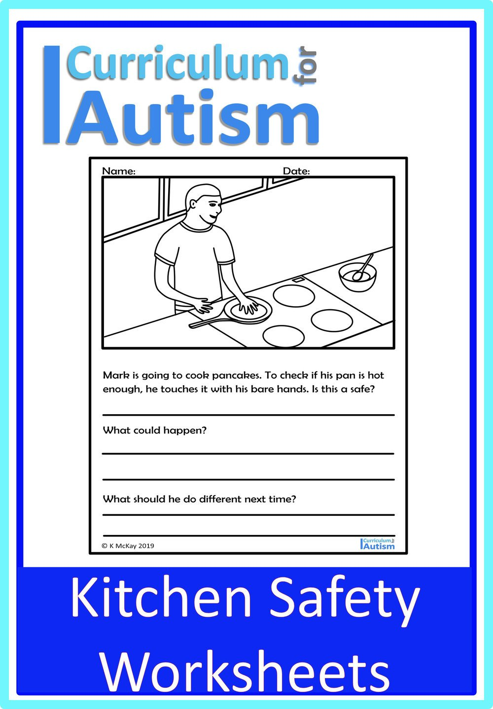 Autism Life Skills Worksheets Kitchen Cooking Safety Worksheets — Curriculum for Autism