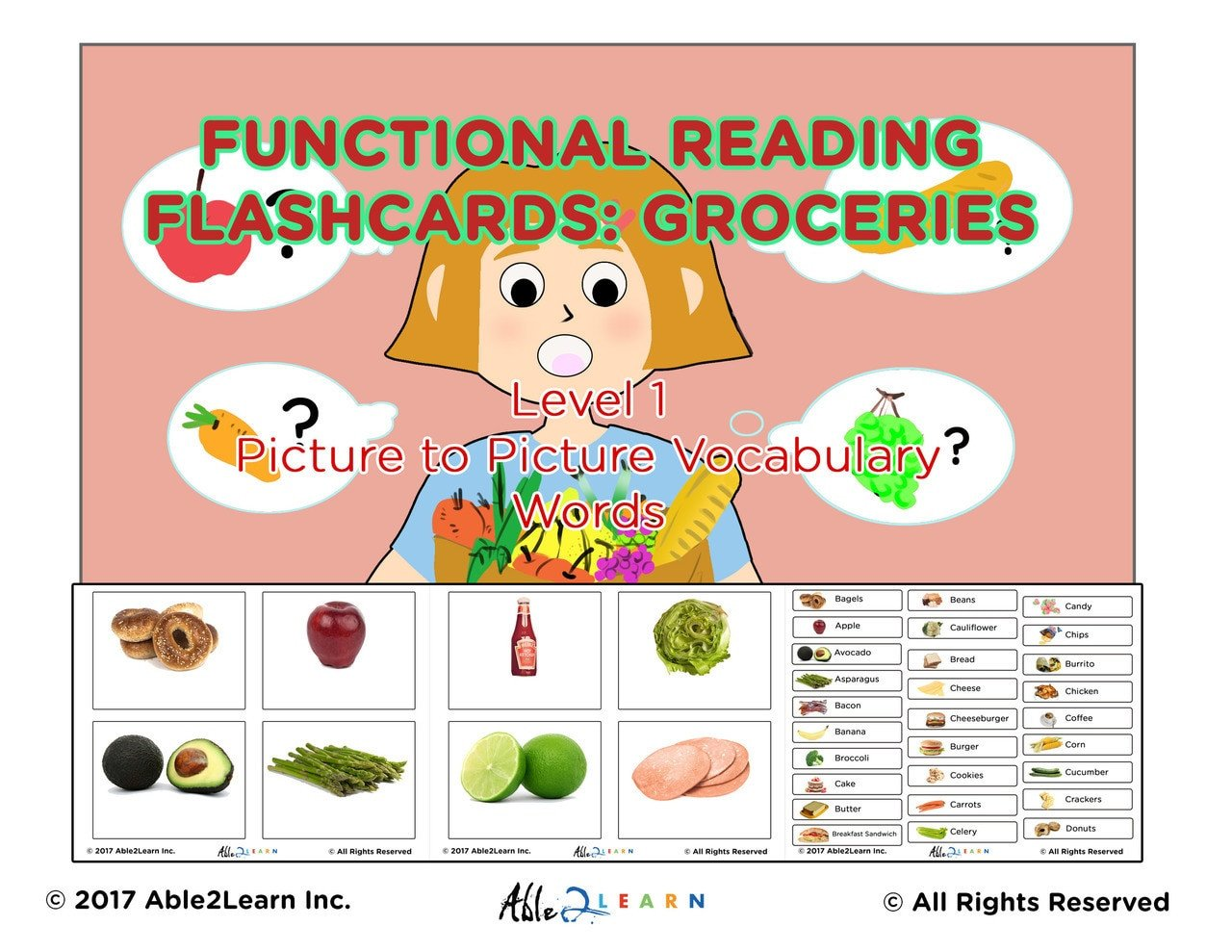 Autism Life Skills Worksheets Life Skills Grocery Food Flashcards 100 Flashcards Pages 32