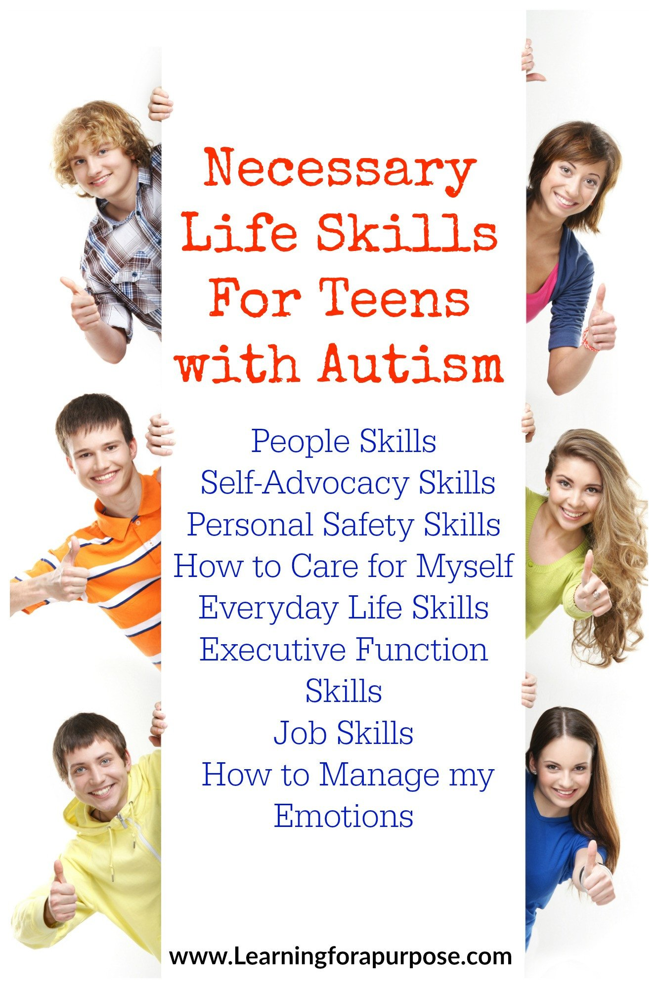 Autism Life Skills Worksheets Necessary Life Skills for Teens with Autism Learning for A