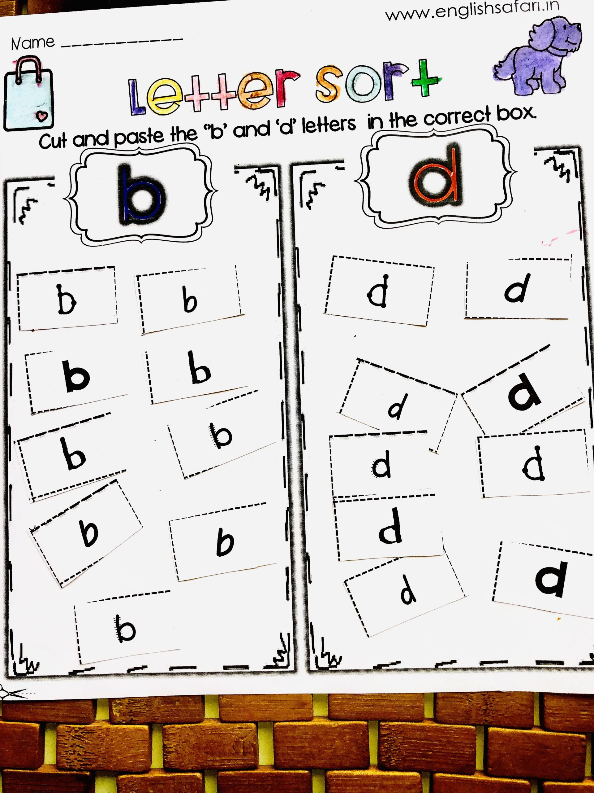 B and D Reversals Worksheets B and D Letter Reversal Packii – English Safari In 2020