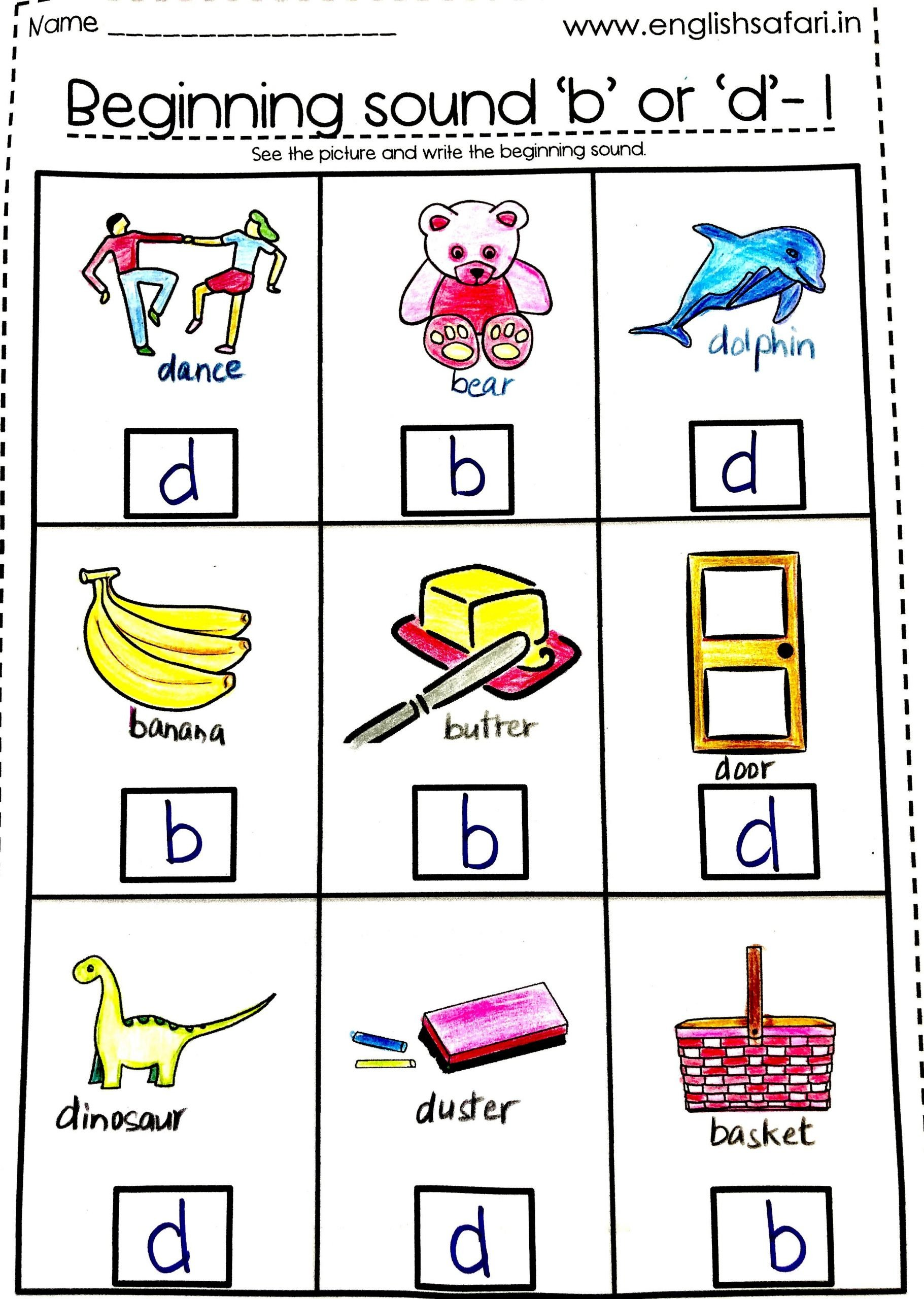 B and D Reversals Worksheets Free B and D Letter Reversal In 2020