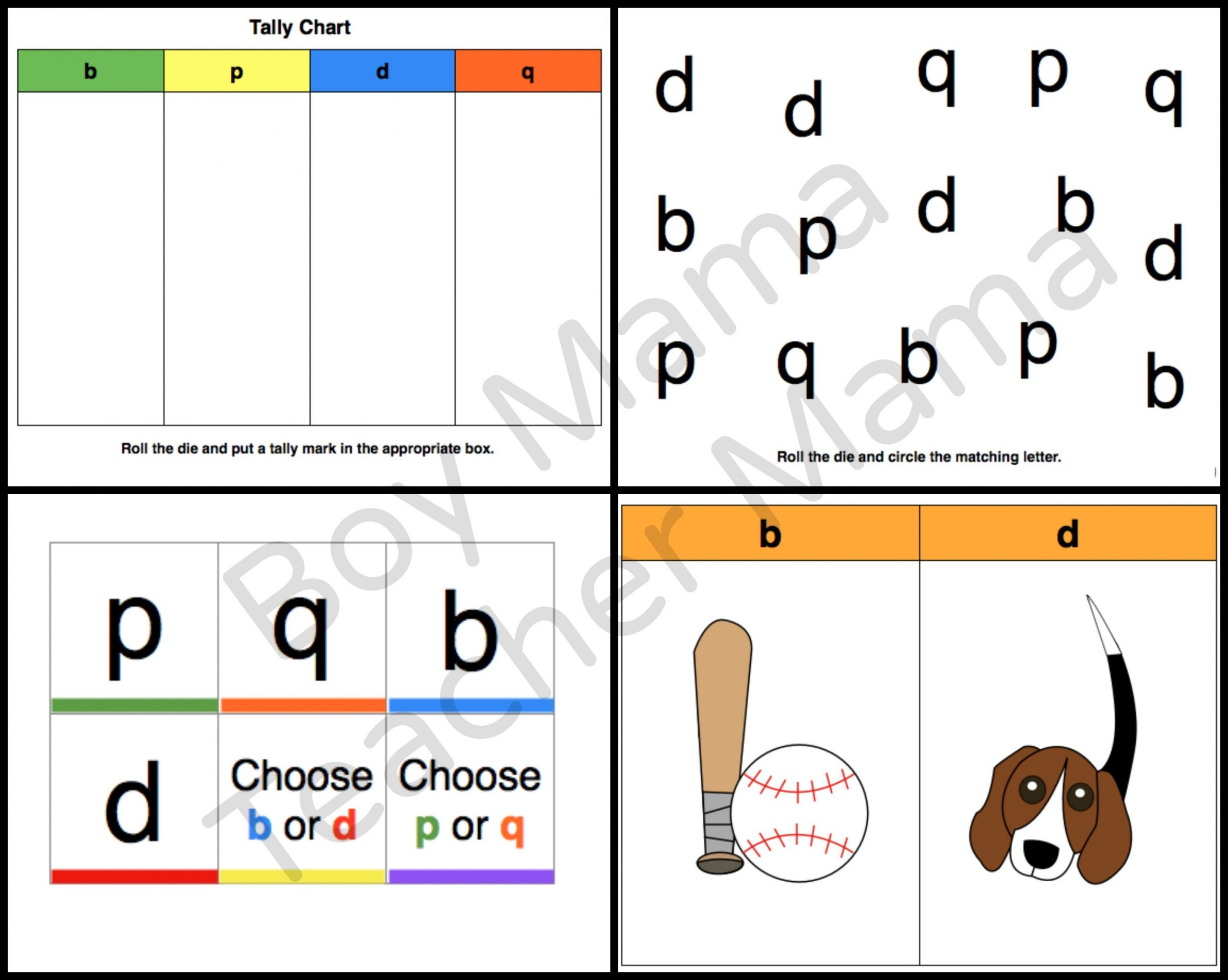 B and D Reversals Worksheets Teacher Mama Games for Letter Reversals Boy Mama Teacher Mama