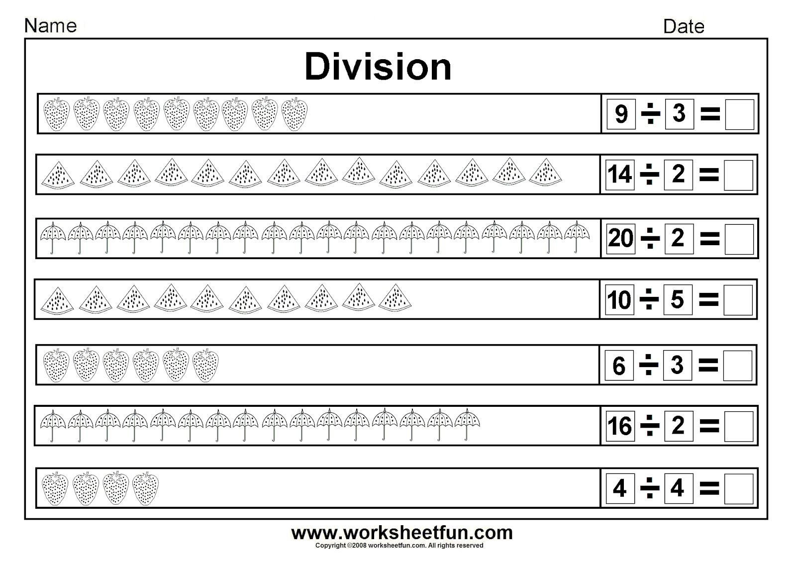 Beginner Division Worksheets with Pictures Worksheetfun Free Printable Worksheets
