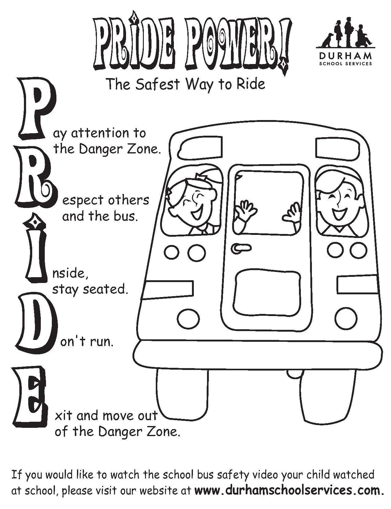 Bus Safety Worksheets Durham School Services