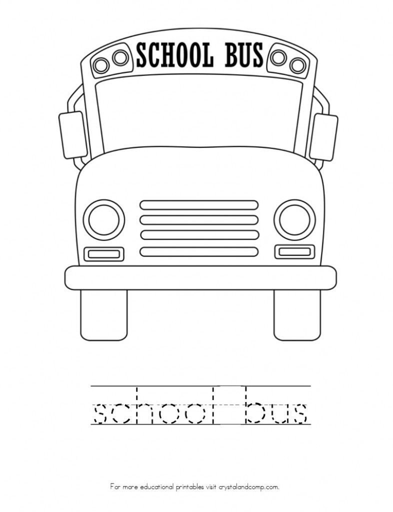 Bus Safety Worksheets Kid Color Pages Back to School theme