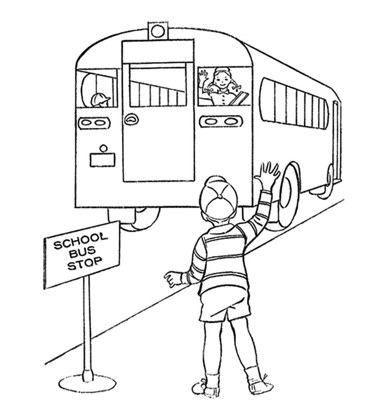 free school bus safety coloring book contest pins internet pages