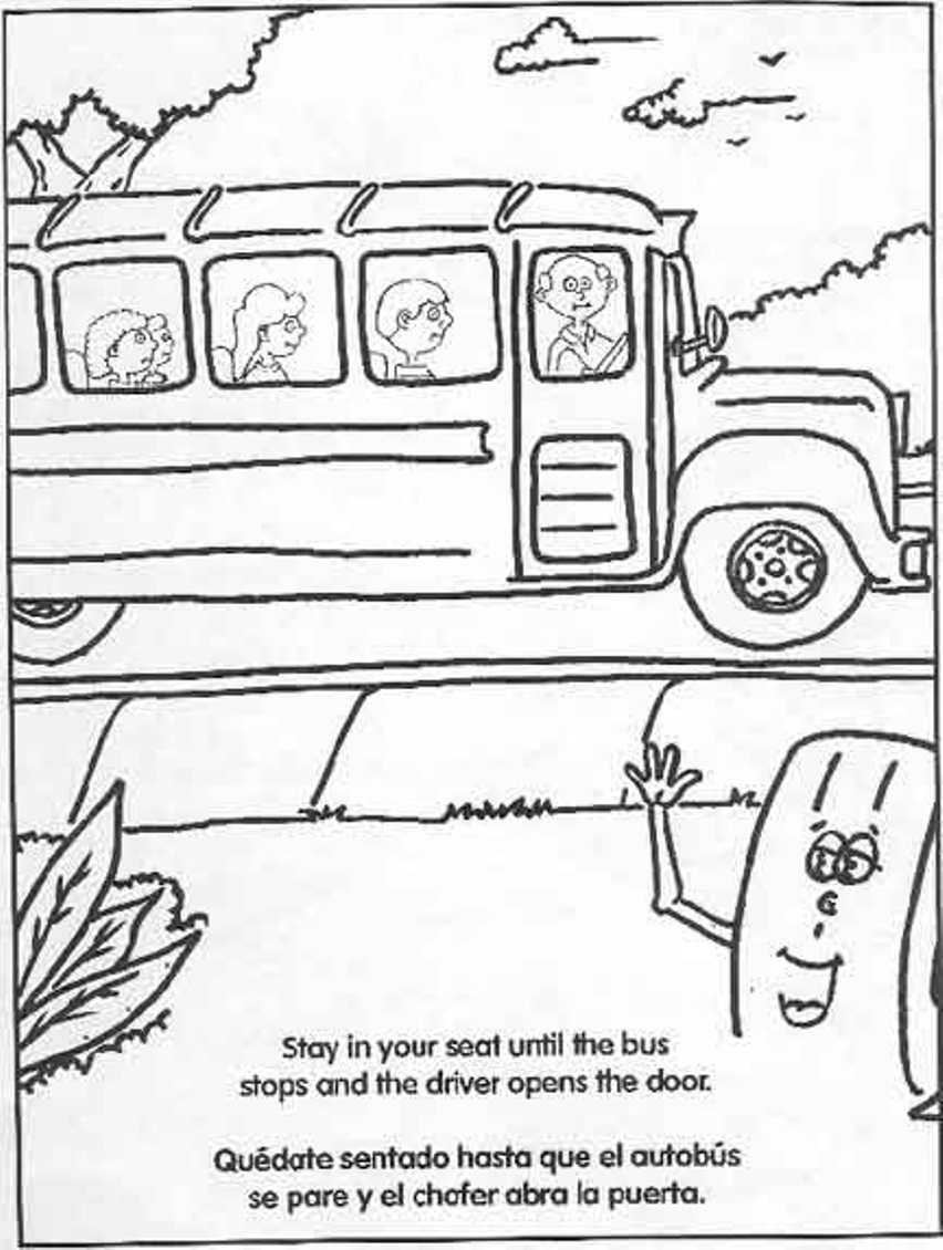 school bus safety coloring page tremendous printable transportation just for kids color4 to print