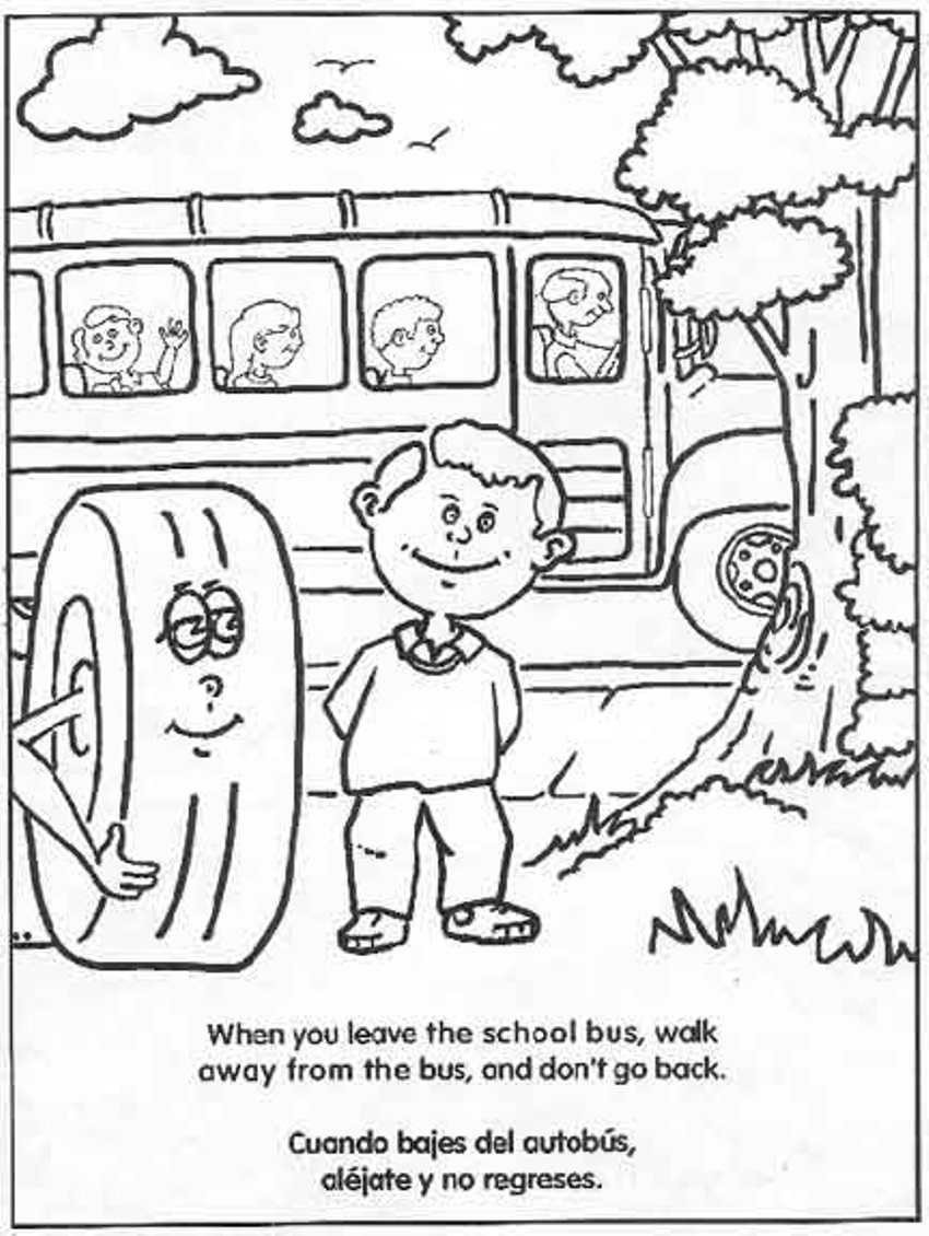 tremendous school bus safety coloring page color2 printable lesson plans pany