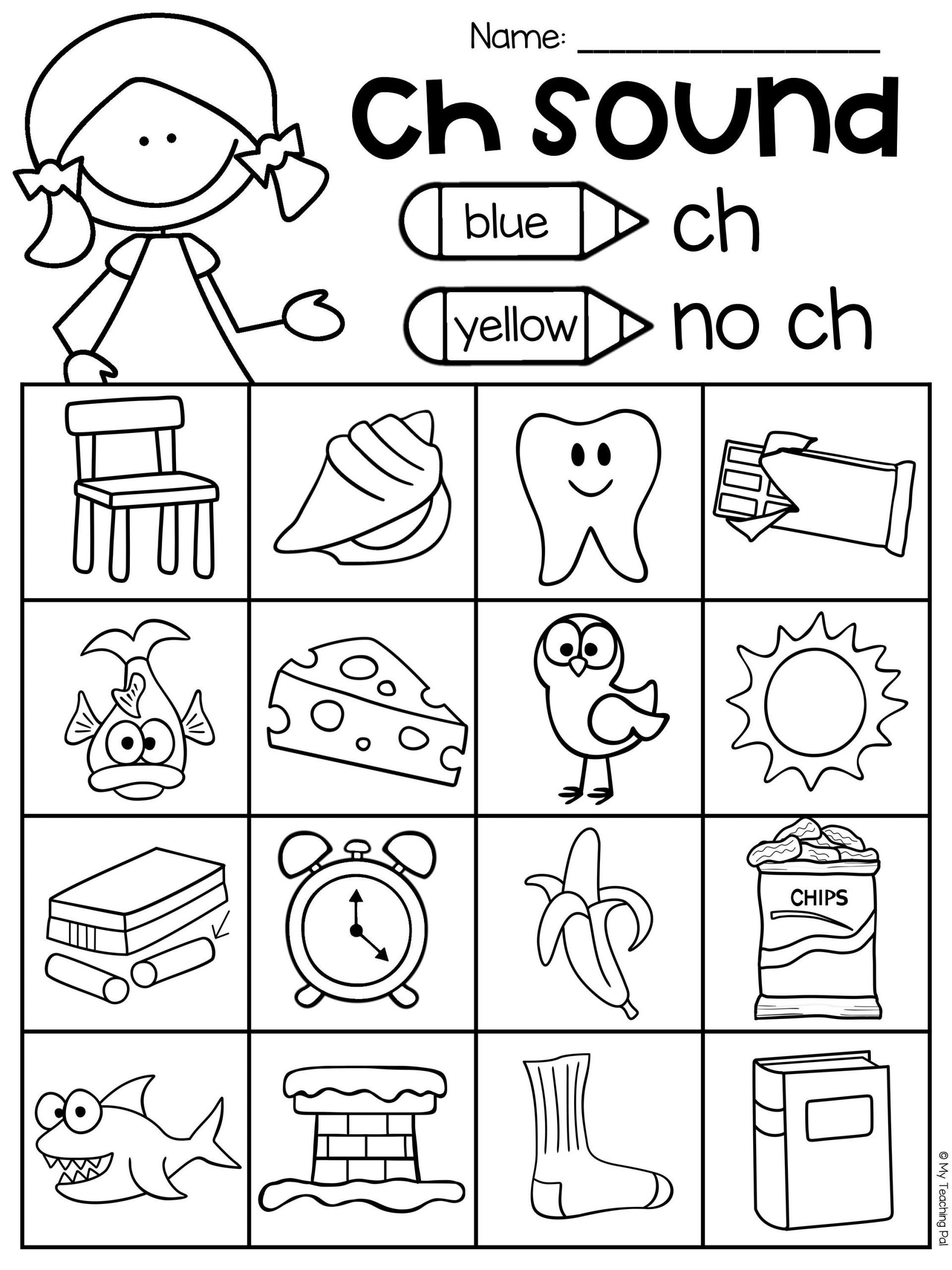 Ch Worksheets for Kindergarten Ch Worksheet Packet Digraphs Worksheets