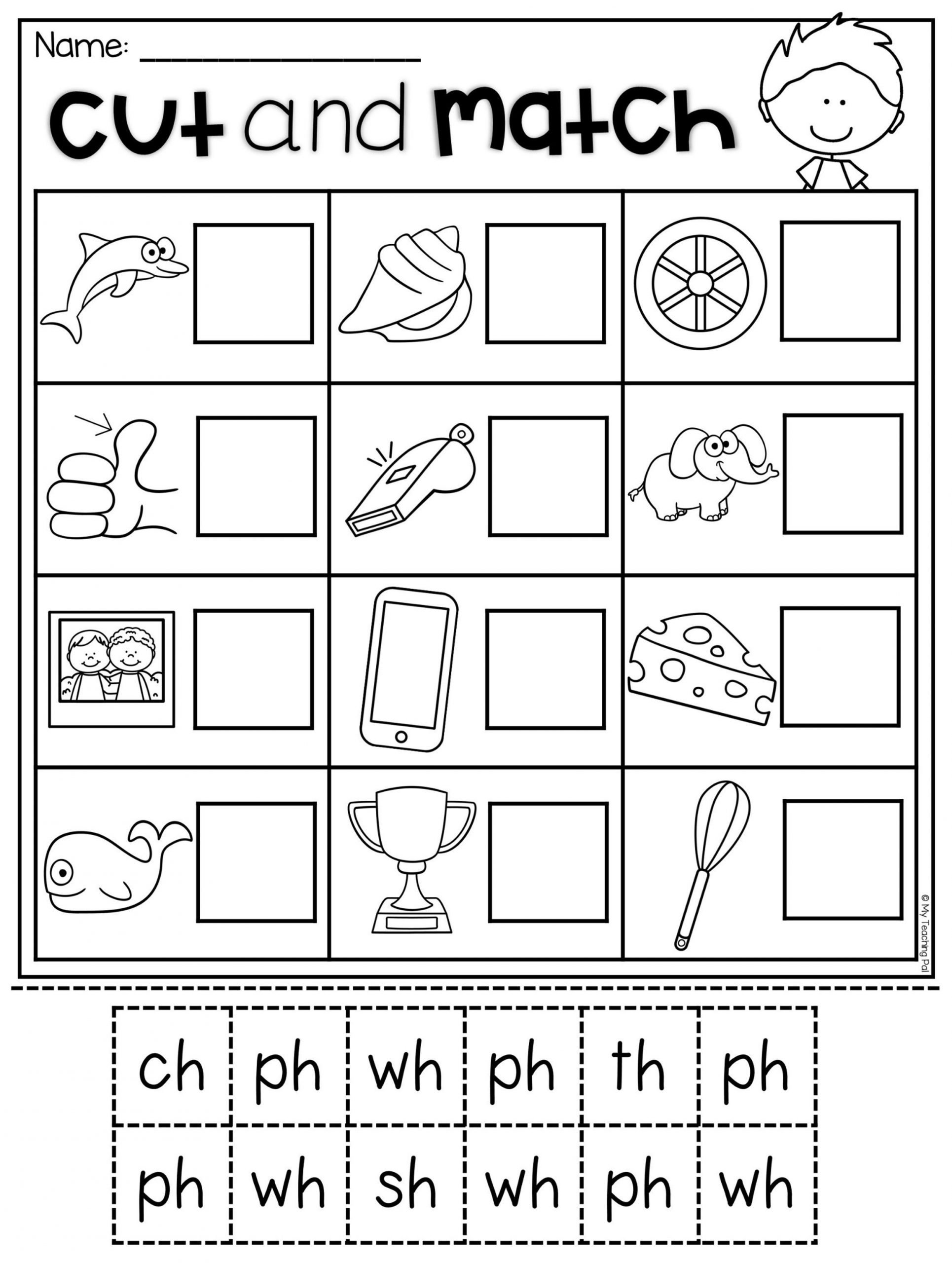 Ch Worksheets for Kindergarten Digraph Worksheet Packet Ch Sh Th Wh Ph