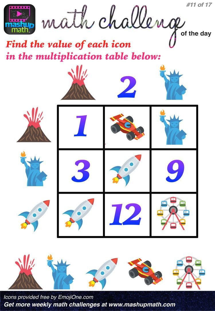 Challenge Math Worksheets are You Ready for 17 Awesome New Math Challenges