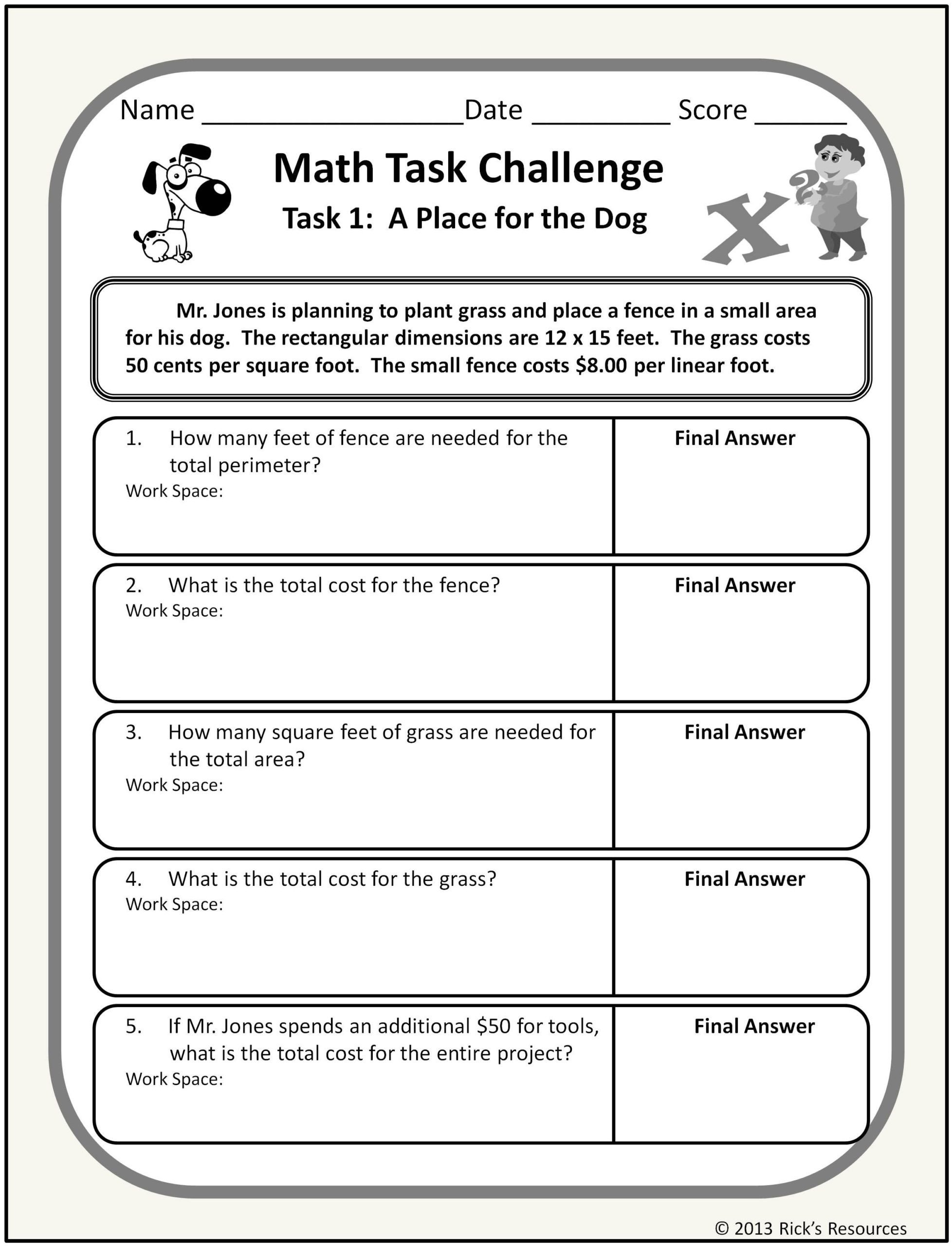 Challenge Math Worksheets Decimal Worksheets Year 6 Math Worksheets Go Linear