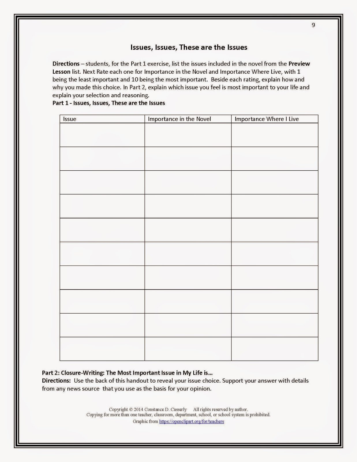 Character Setting Plot Worksheet Main Character Setting Plot Worksheet